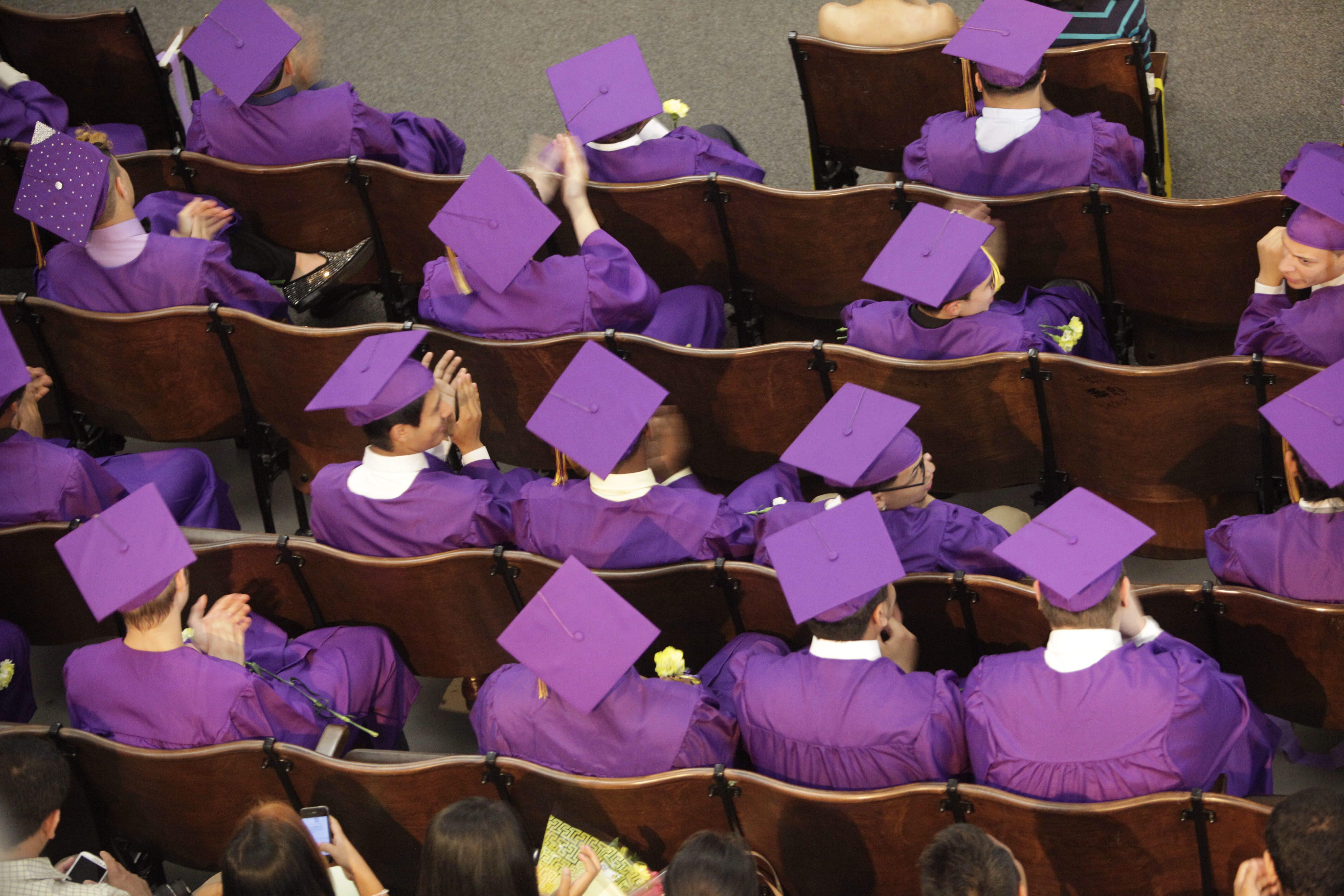 The graduating class at the Riverside High School graduation, Thursday, June 26, 2014.  (Derek Gee/Buffalo News)