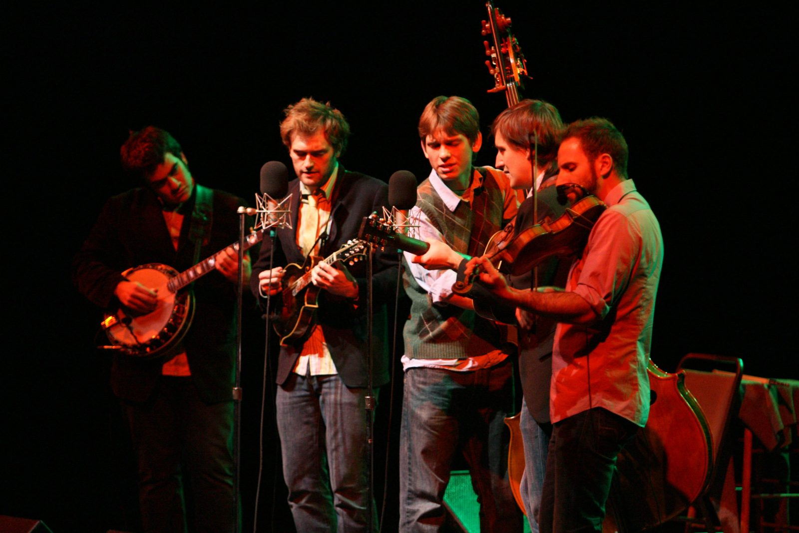 Punch Brothers featuring Chris Thile, performing in the University at Buffalo Center for the Arts in 2008 (News file photo)