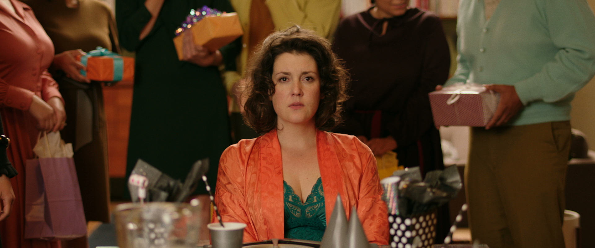 Melanie Lynskey gives a great performance in 'The Birthday Party,' one of the segments of the horror anthology 'XX.' (Courtesy Magnet Releasing.)