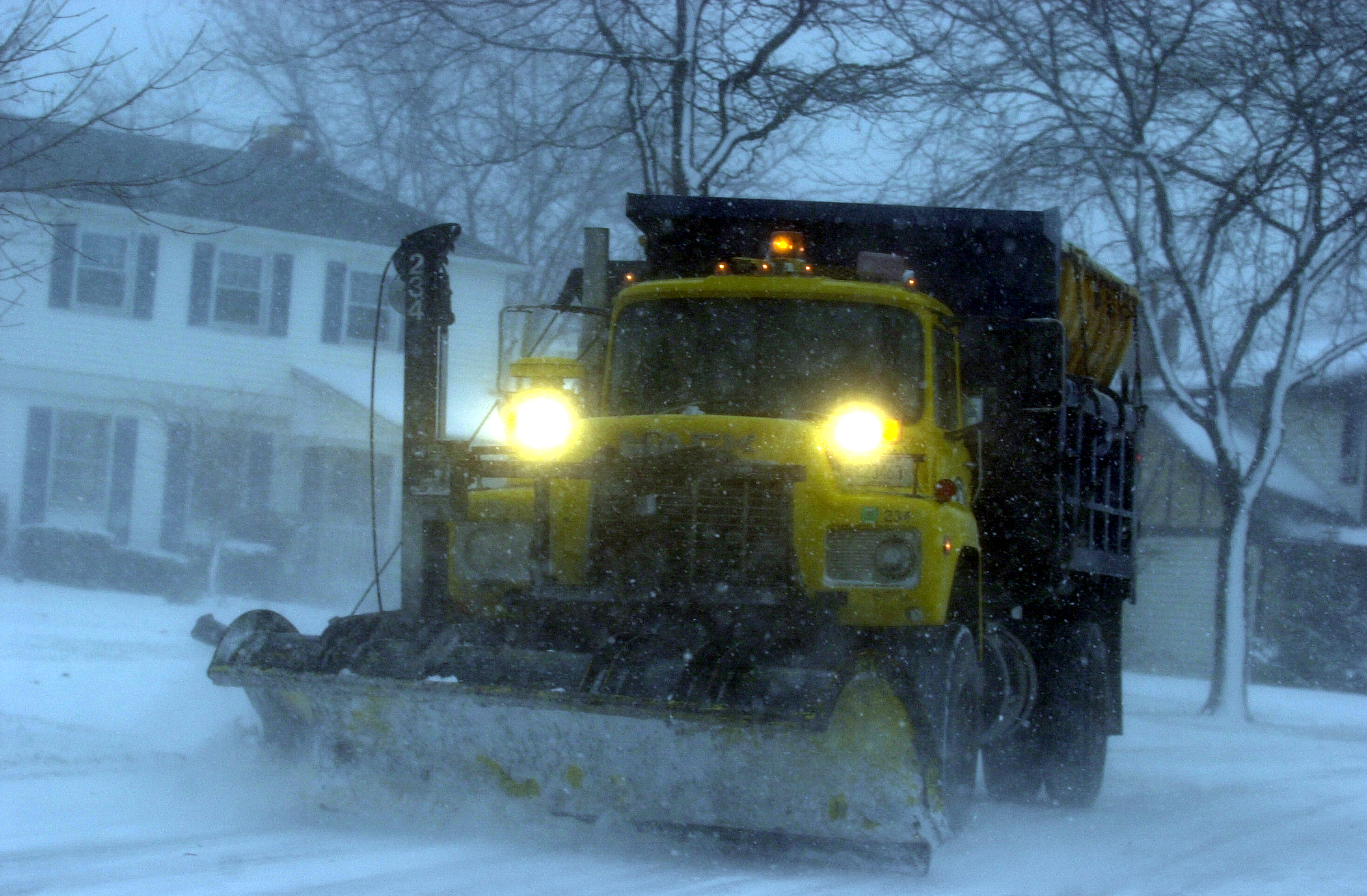 A town of Amherst plow truck at work on Willow Green Drive in Amherst. (News file photo)