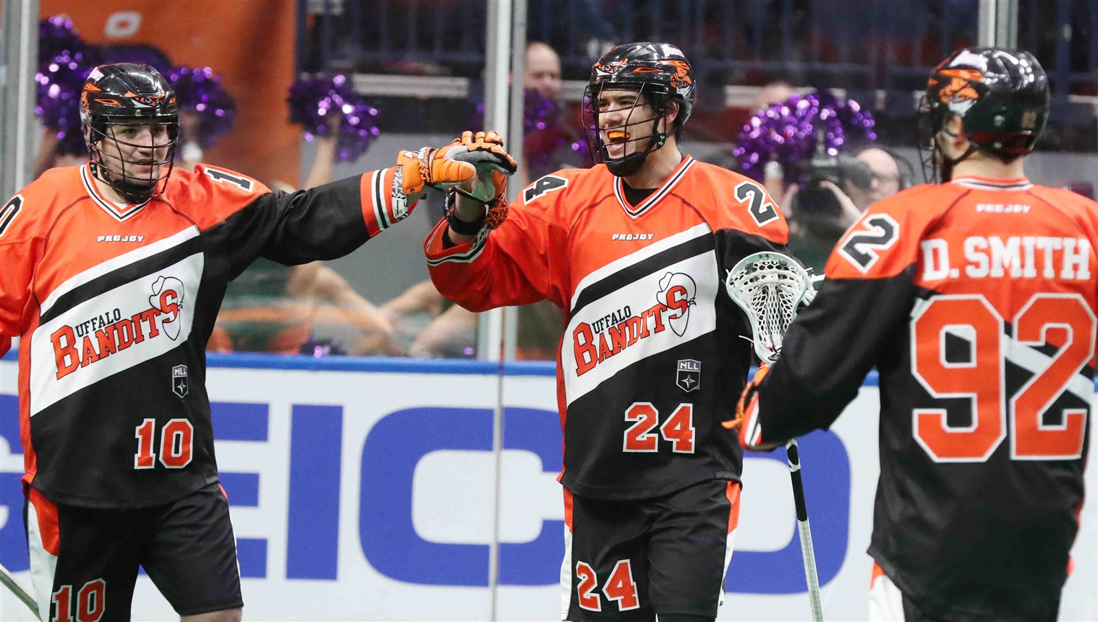 Mitch Jones (24) hopes to continue his flurry of goals this weekend for the Bandits. (Photo by James P. McCoy / Buffalo News)