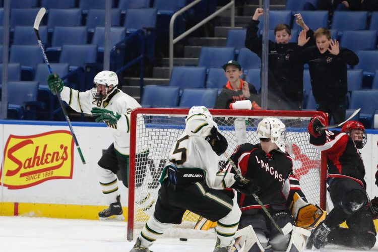 Williamsville North beats Lancaster in overtime to repeat as hockey champions