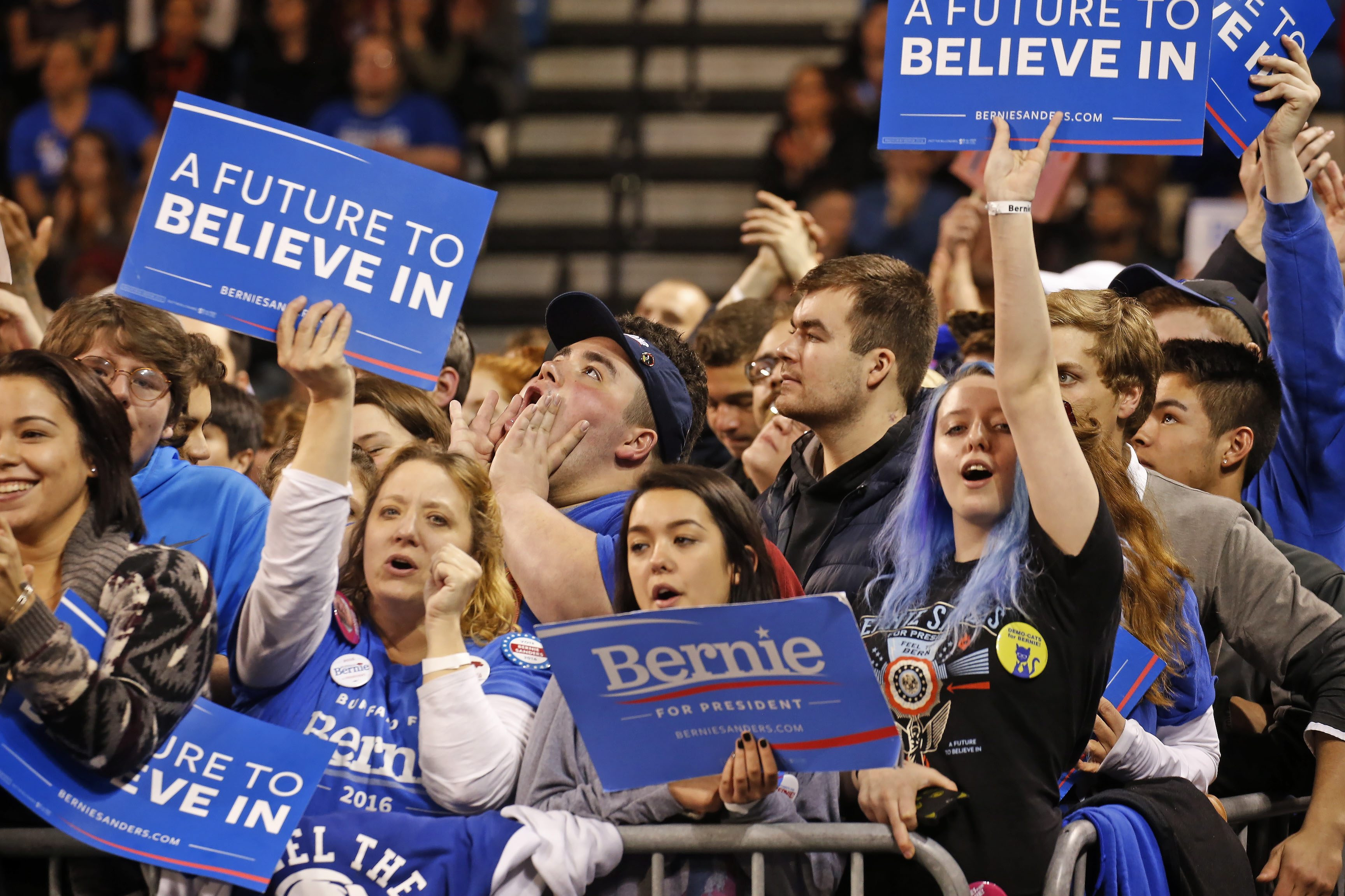 Democratic Party looks to grow its grass roots, and find a way to get young voters, like the ones who supported Bernie Sanders, involved in politics.  (Robert Kirkham/Buffalo News)