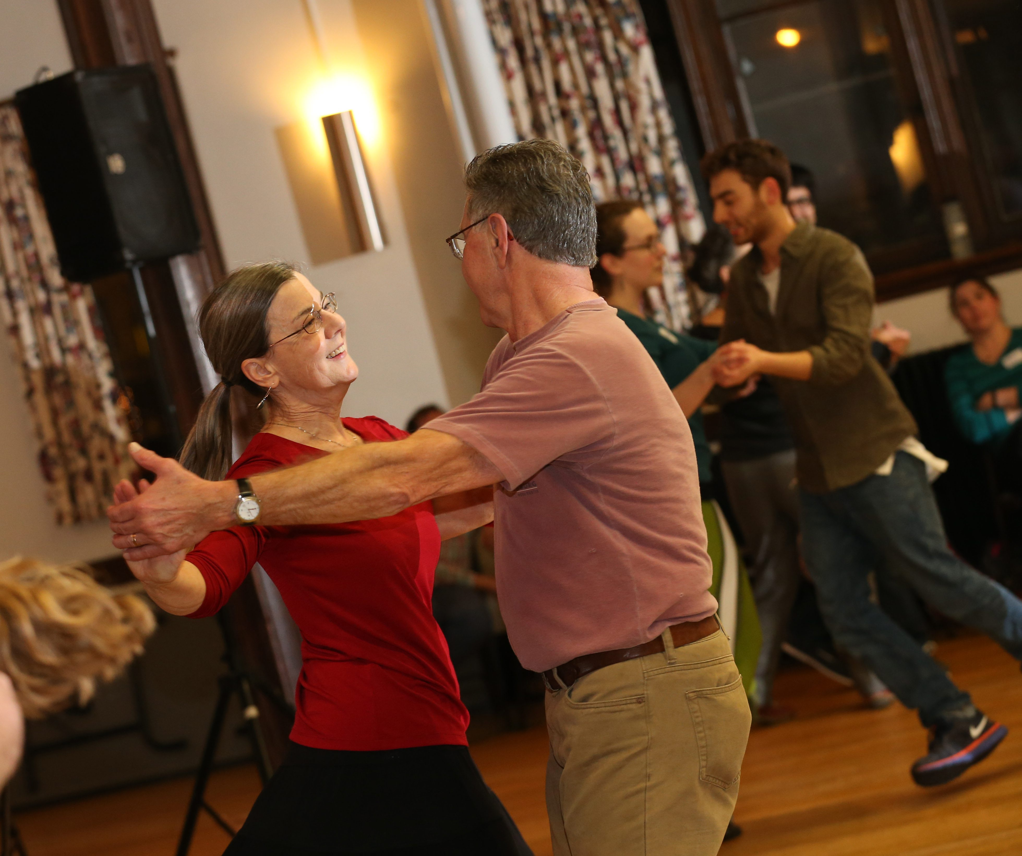 The Queen City Contra Dancers will meet Saturday in the Unitarian Universalist Church in the Elmwood Village. All dances are open to the public and beginners are welcome. (Sharon Cantillon/News file photo)