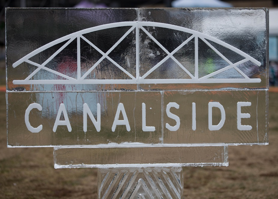 An ice carving at the entrance to Canalside during the Chillibration winter festival on Jan. 14 (Derek Gee/Buffalo News file photo)
