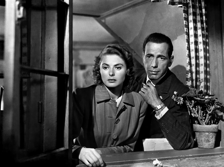 Ingrid Bergman and Humphrey Bogart will always have Paris in the classic romance 'Casablanca.'
