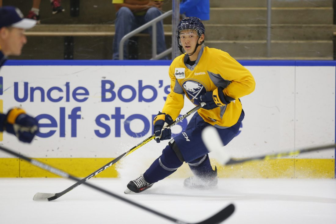 Sabres prospect Cliff Pu did not make Team Canada's selection camp roster for the world juniors. (Harry Scull Jr./Buffalo News)