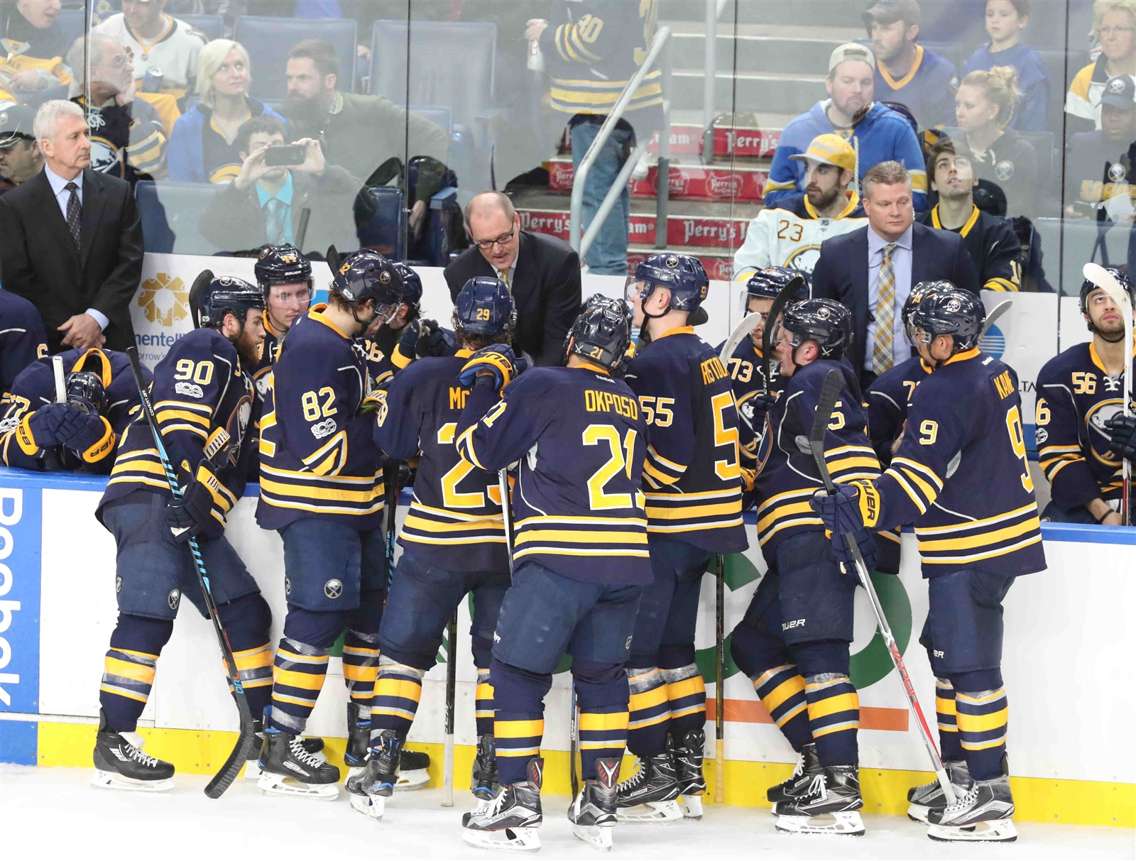 The Sabres are winning as a group, but it helps that their stars led the way Saturday. (James P. McCoy/Buffalo News)