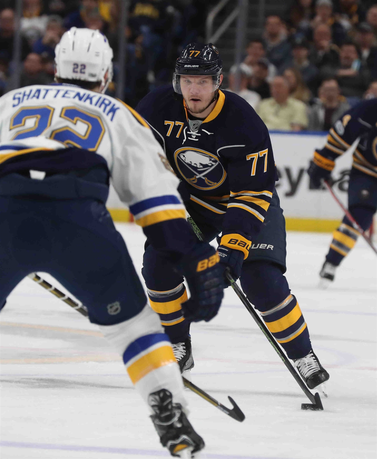 Dmitry Kulikov could fetch the Sabres a second-round pick in a trade. (James P. McCoy/Buffalo News)