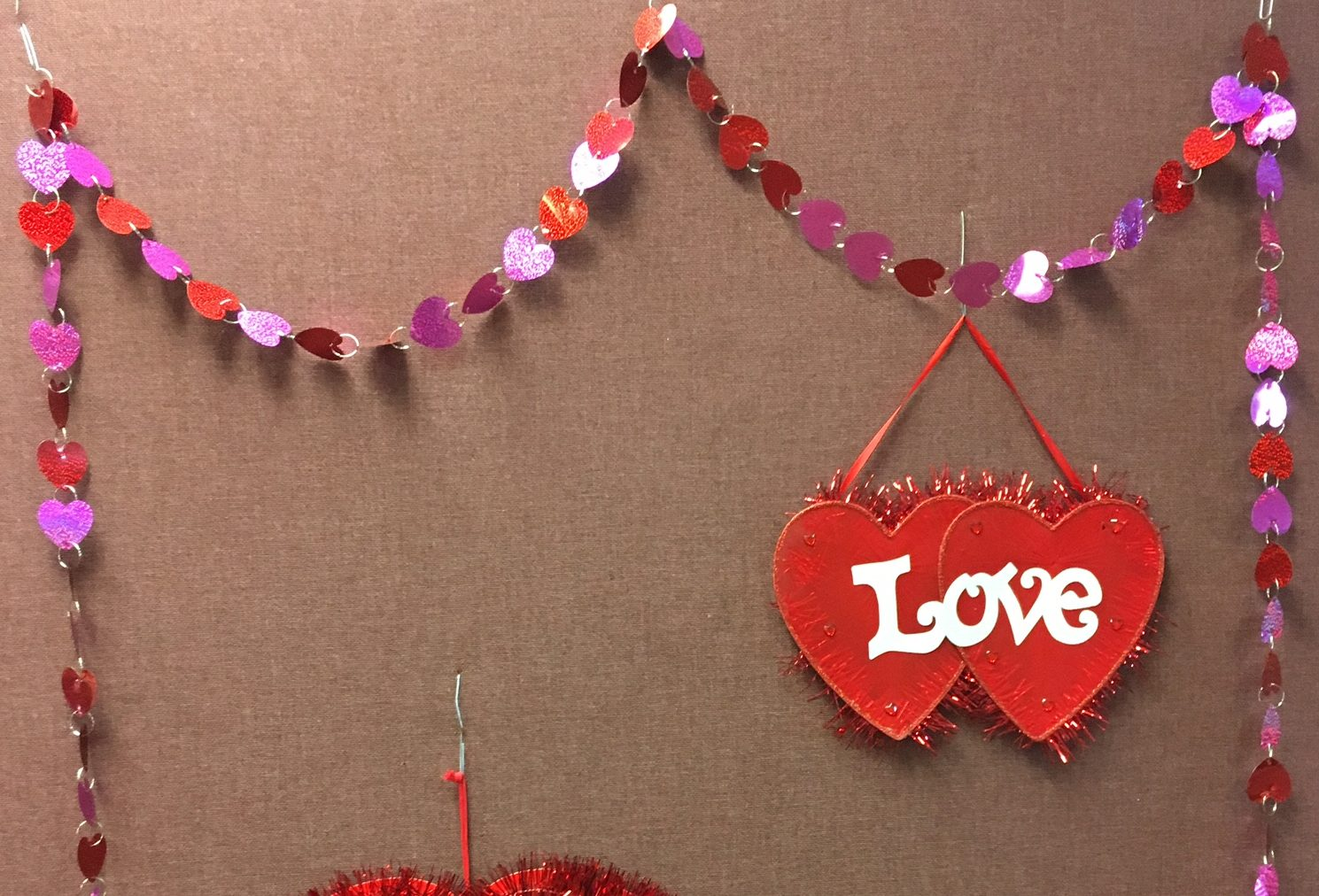 Decorations in City Clerk's office