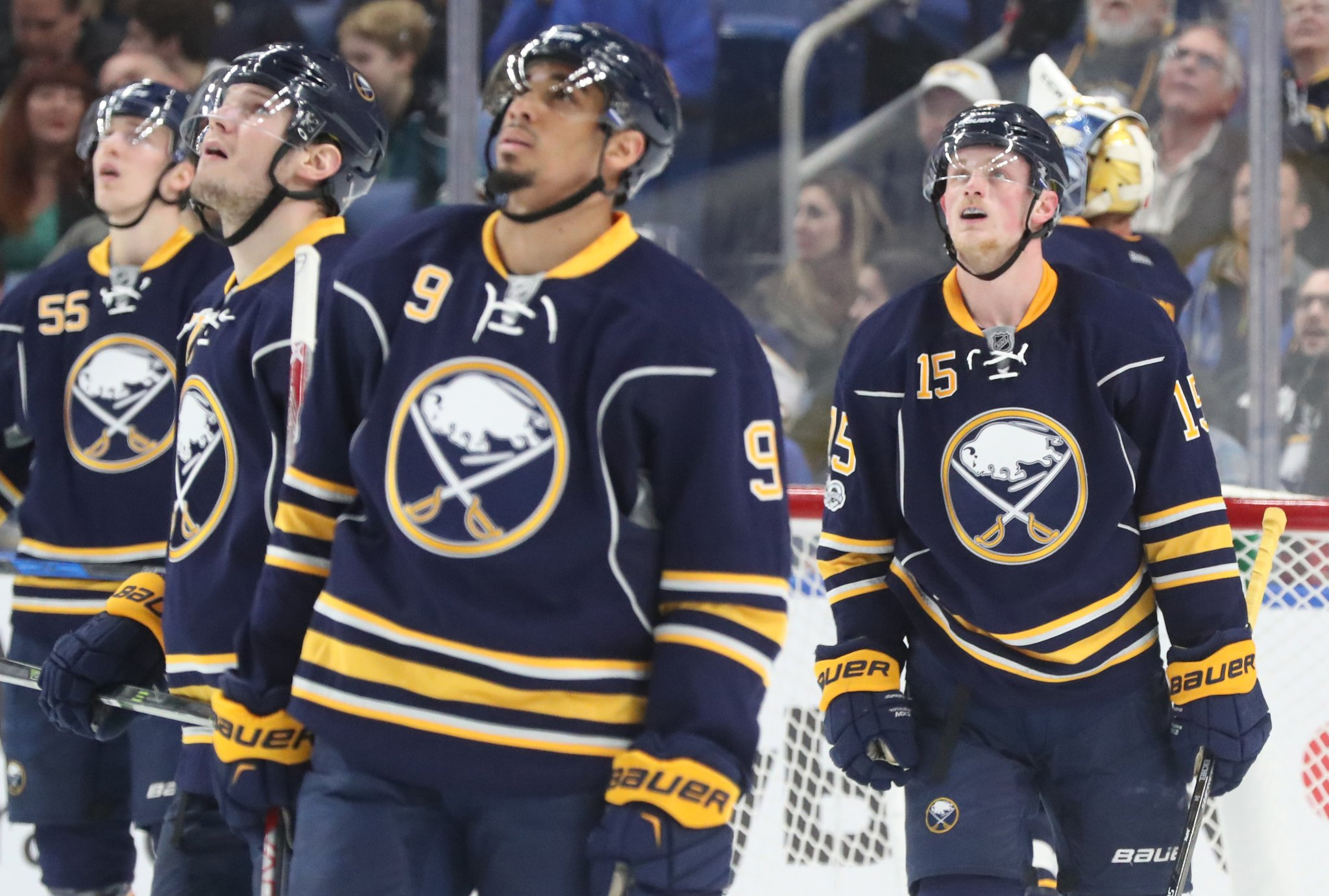 The Sabres look to build on a dramatic win over San Jose. (James P. McCoy/Buffalo News)