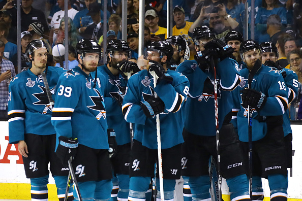 The San Jose Sharks made their first appearance in the Stanley Cup Finals last season.  (Getty Images)