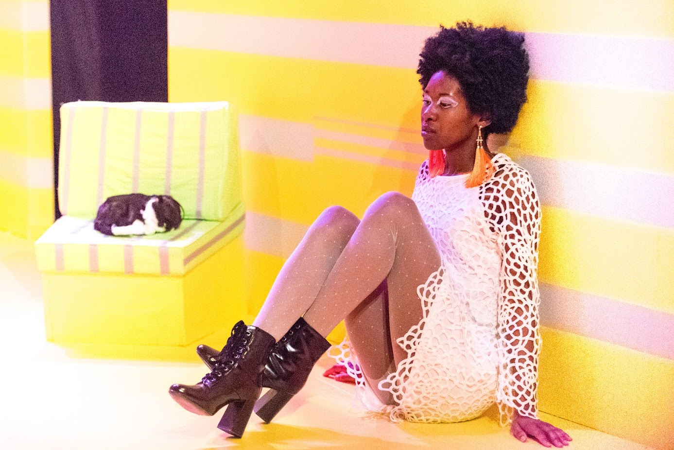 Courtney Turner stars in 'The Collection' at Torn Space Theater. (Photo by   Mark Thomas Duggan)