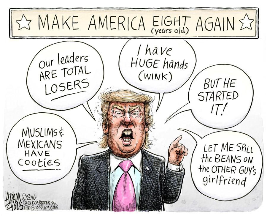 Image result for trump trash