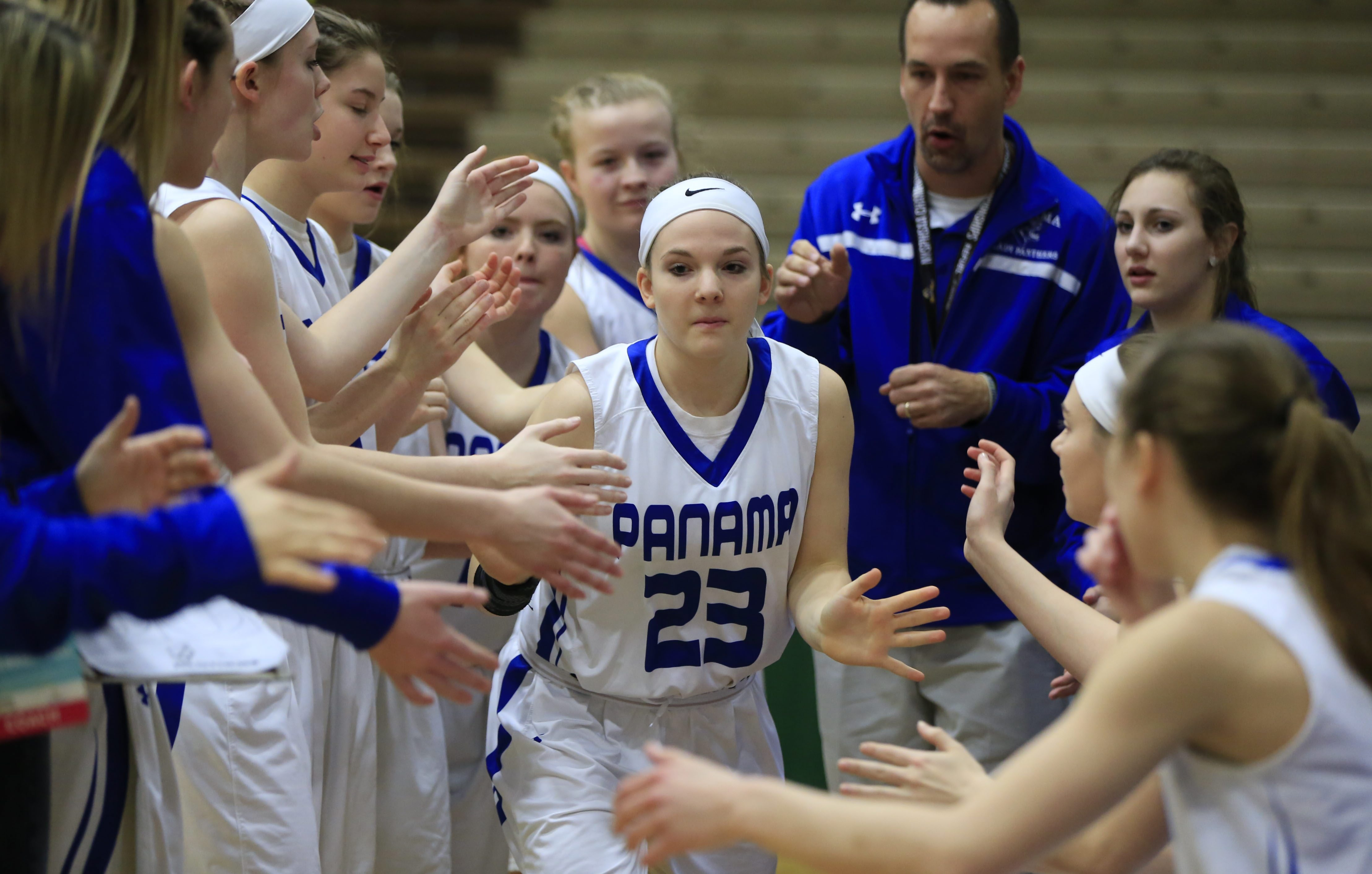 Panama's Madalyn Bowen, shown in a 2016 game, paced the Panthers with 23 points on Saturday. (Harry Scull Jr./Buffalo News)
