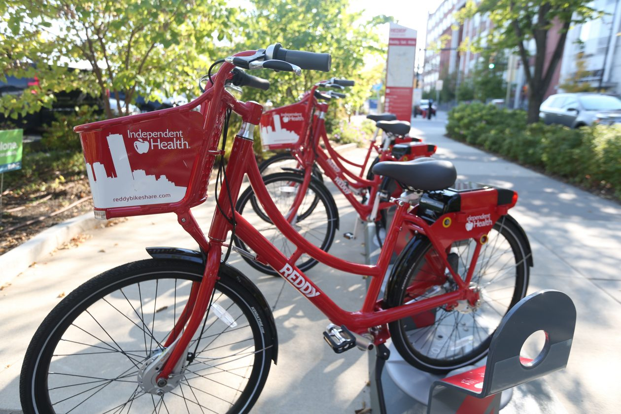Reddy bikes are among efforts to get those in Buffalo moving more. (Sharon Cantillon/Buffalo News file photo)