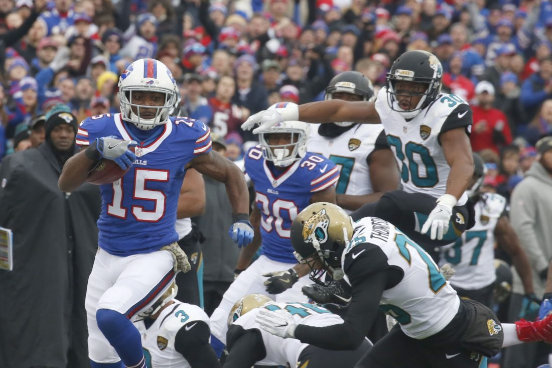 Brandon Tate gave the Bills' return game a boost after coming to the team shortly before the start of the 2016 season. (Robert Kirkham/Buffalo News)