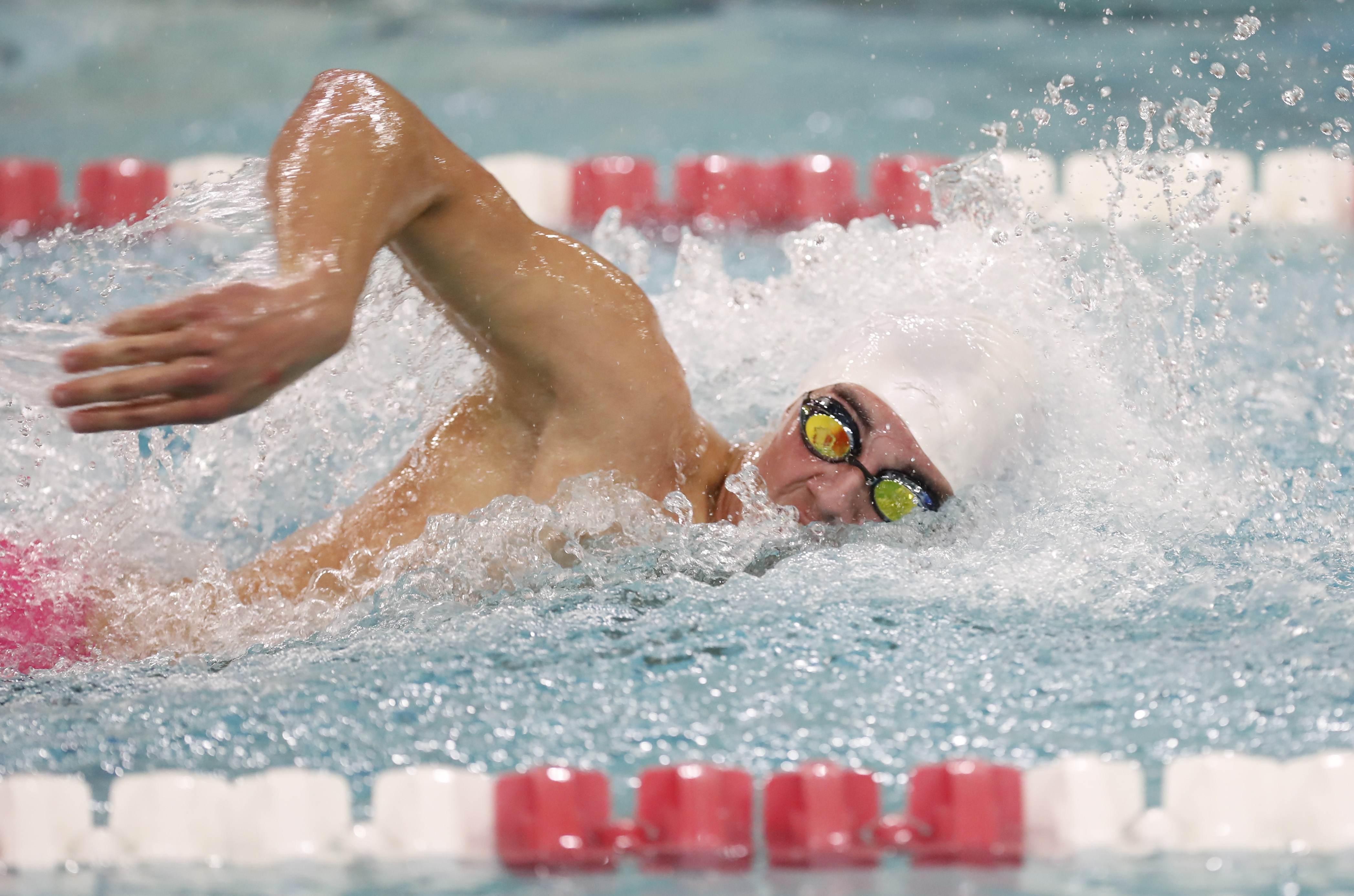 Seth Farrand from Olean continued his dominant swimming career Saturday, helped by his coach and mother, Carol Farrand. (Harry Scull Jr./Buffalo News file photo)