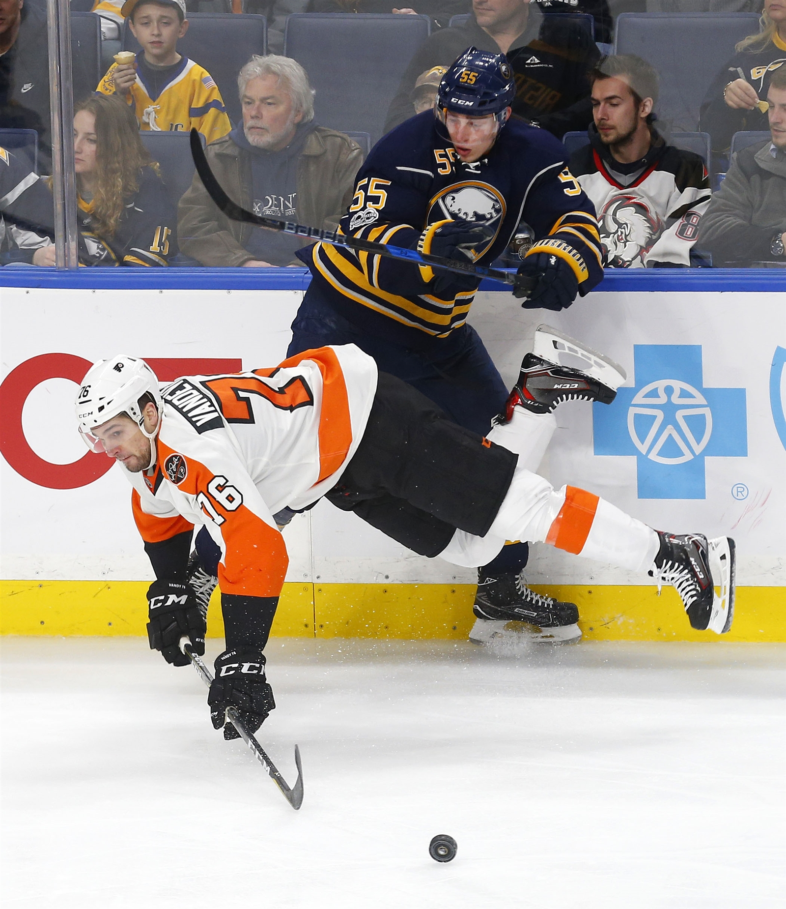 Typically an all-around defender, Rasmus Ristolainen got to show his flashy side. (Mark Mulville/Buffalo News)
