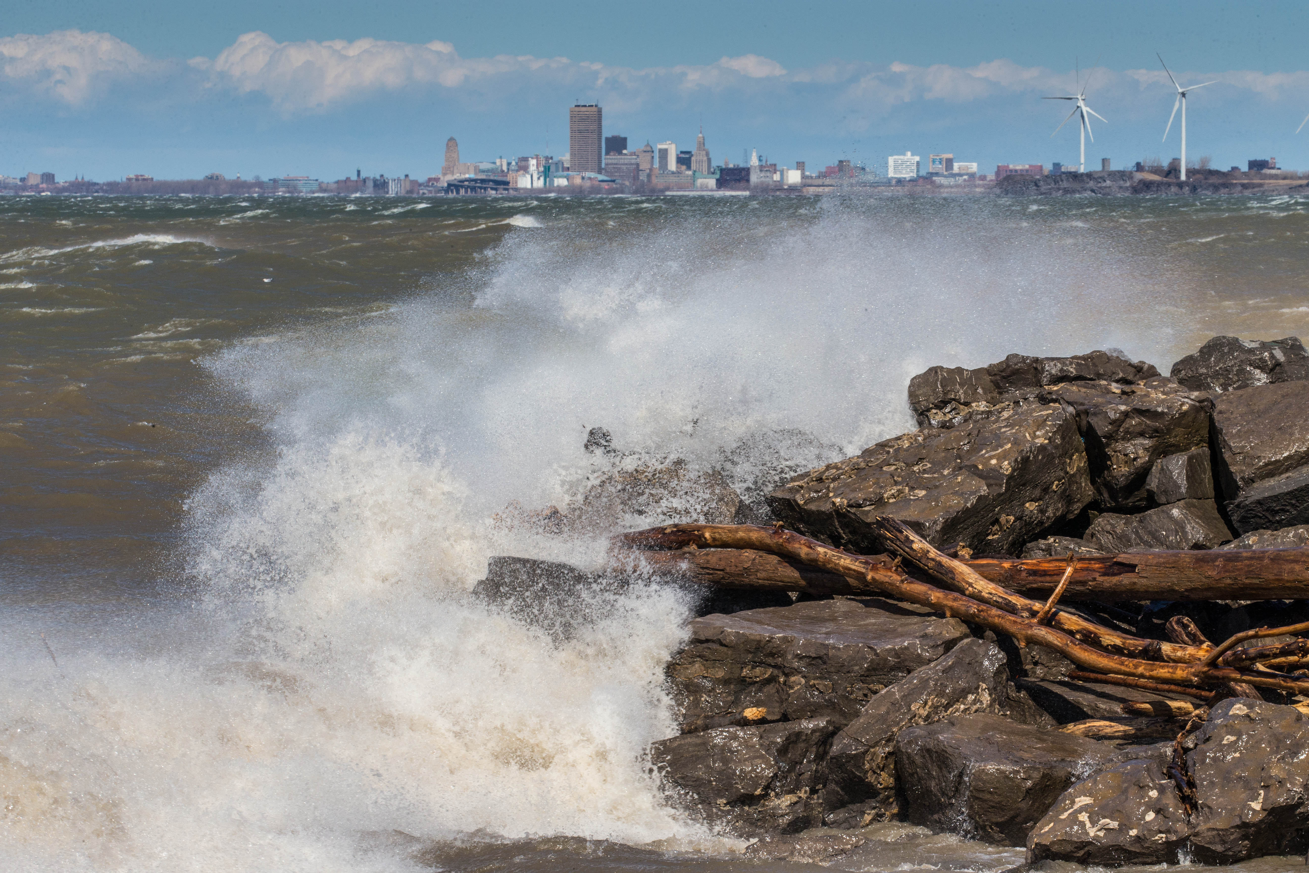 Gusty winds could help create dangerous swimming conditions at Western New York's beaches today, the National Weather Service said. (Derek Gee/Buffalo News file photo)