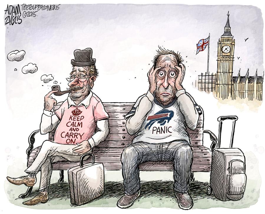 Bills leave Britain