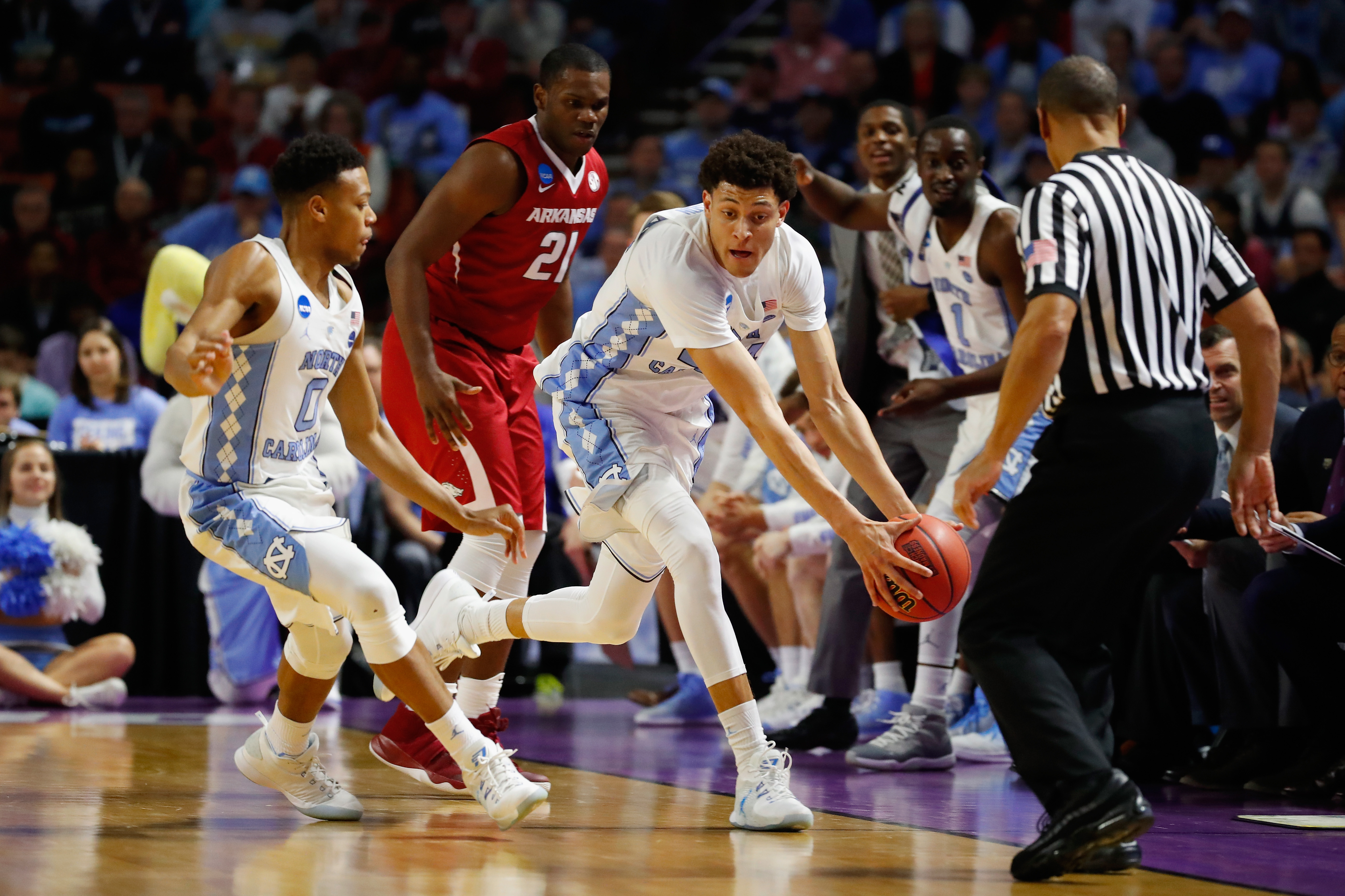 Justin Jackson and the North Carolina Tar Heels are the lone ACC team left in the NCAA Tournament.  (Getty Images)