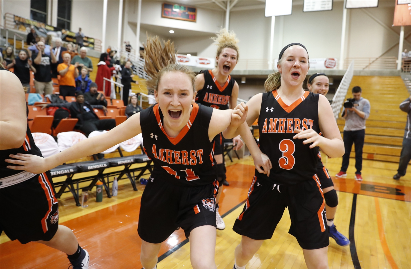 First-time regional participant Amherst opens up the five-game slate Saturday at Buffalo State when it faces unbeaten Pittsford Mendon in a Class A New York State Public High Schools Athletic Association Tournament quarterfinal game. (Harry Scull Jr./Buffalo News)
