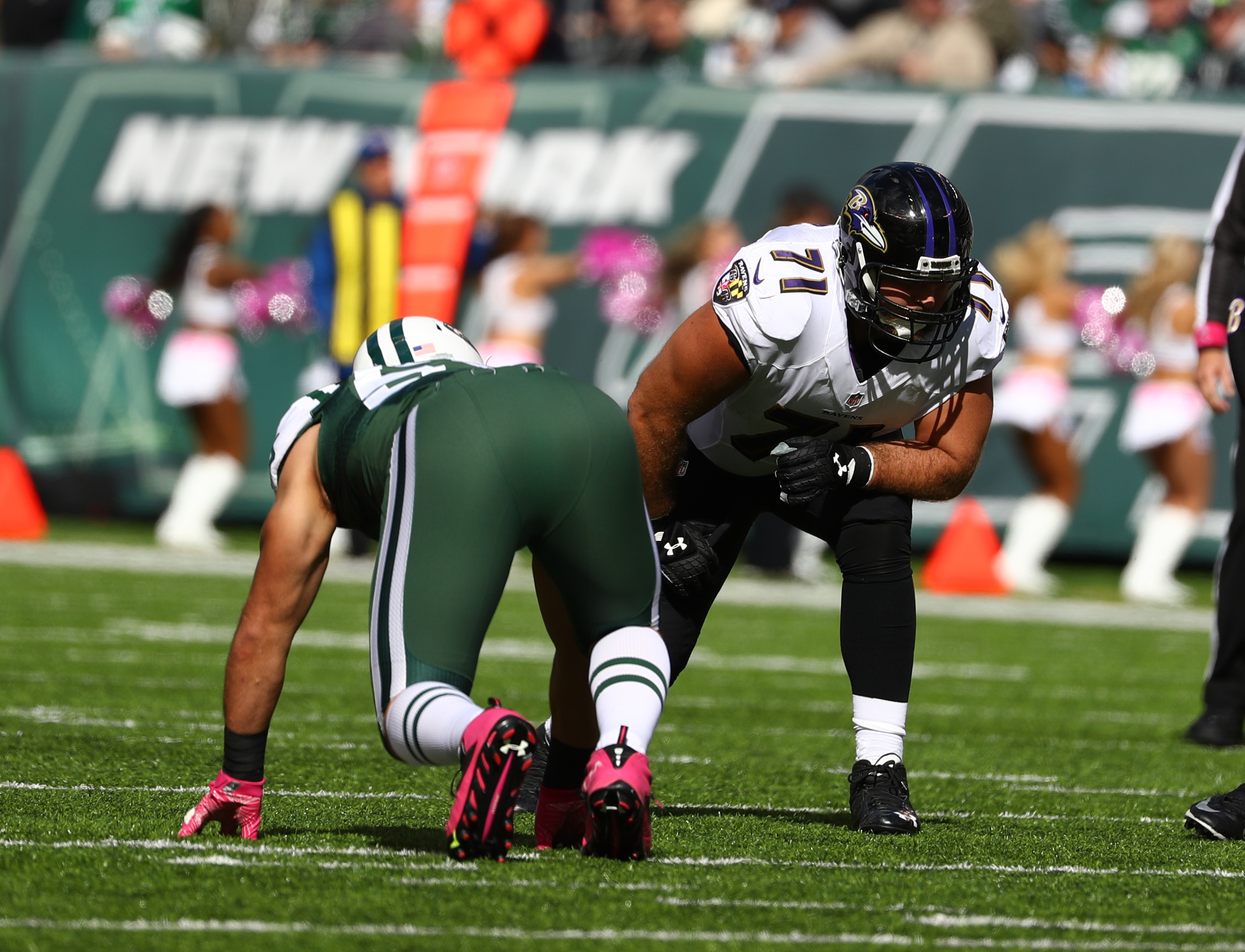 Ravens right tackle Ricky Wagner is expected to land a big contract in free agency. (Getty Images)