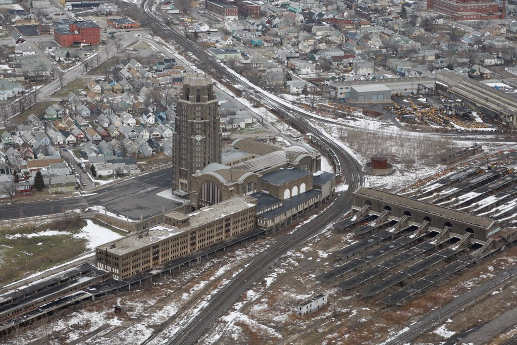 An aerial view of the Central Terminal on Buffalo's East Side. (Derek Gee/Buffalo News file photo)