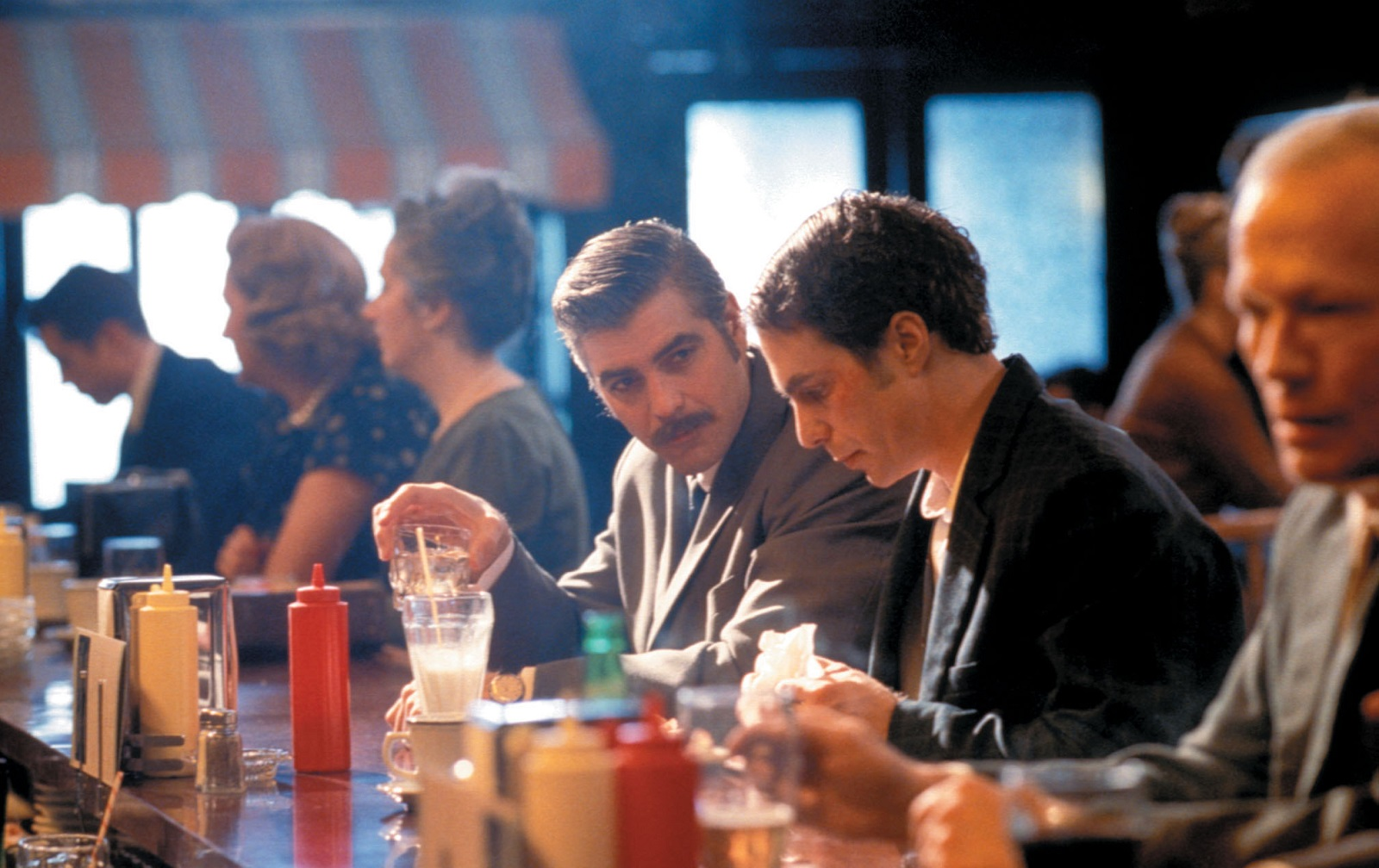 George Clooney (left) and Sam Rockwell in 'Confessions of a Dangerous Mind.'