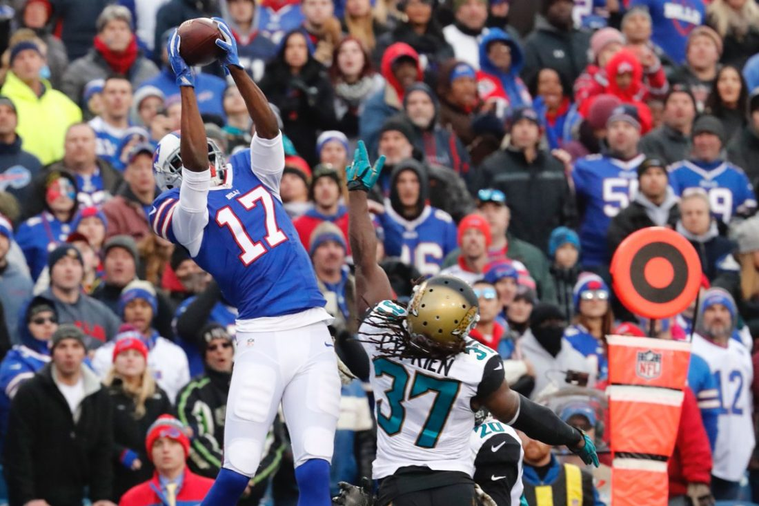Justin Hunter was a threat for the Buffalo Bills around the end zone in 2016. (Harry Scull Jr./Buffalo News)