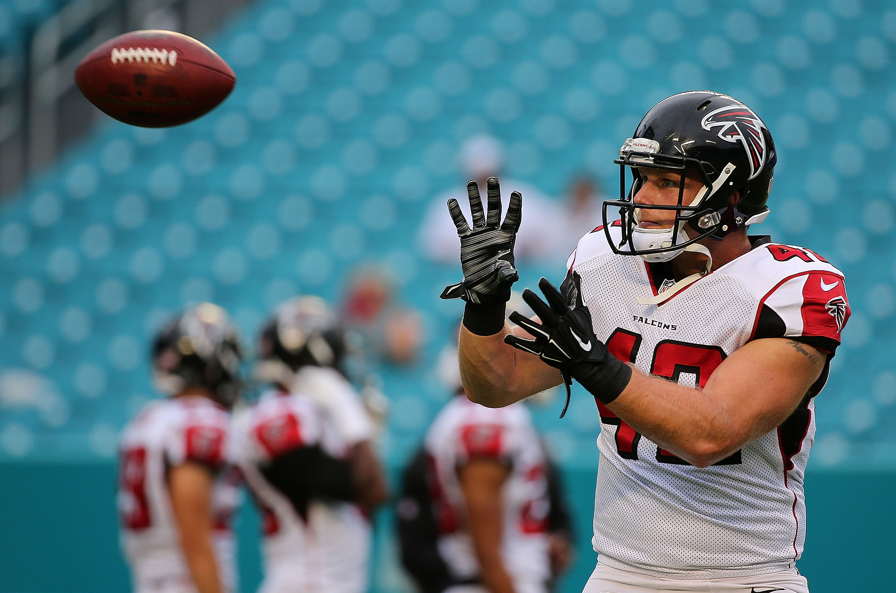Patrick DiMarco finished the 2016 season as the best run-blocking fullback in the NFL, according to one analytics website. (Getty Images)