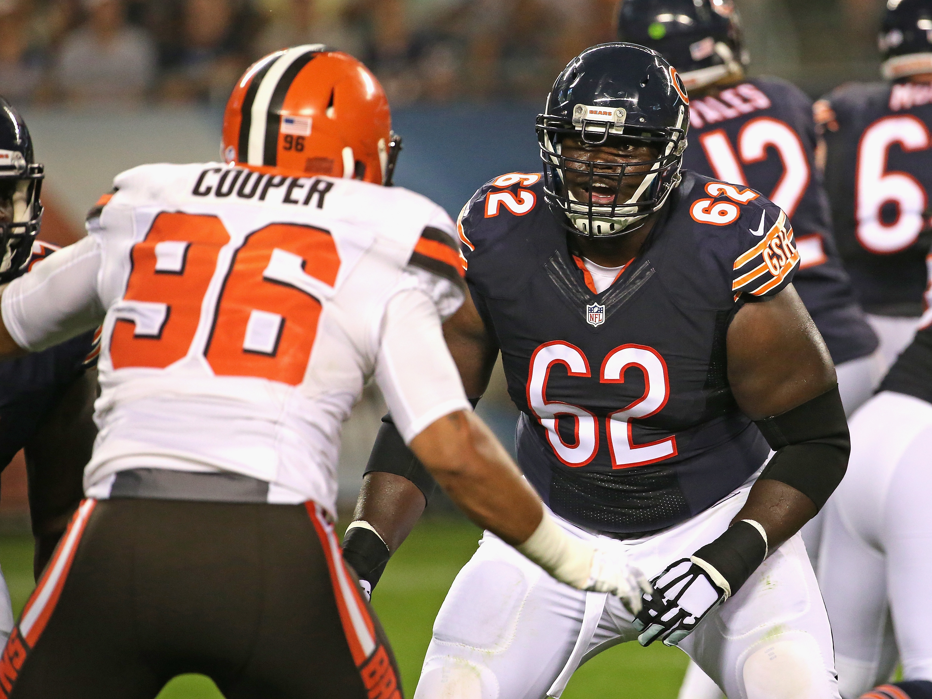 Offensive lineman Vlad Ducasse (62) has played with four teams in his NFL career. (Getty Images)