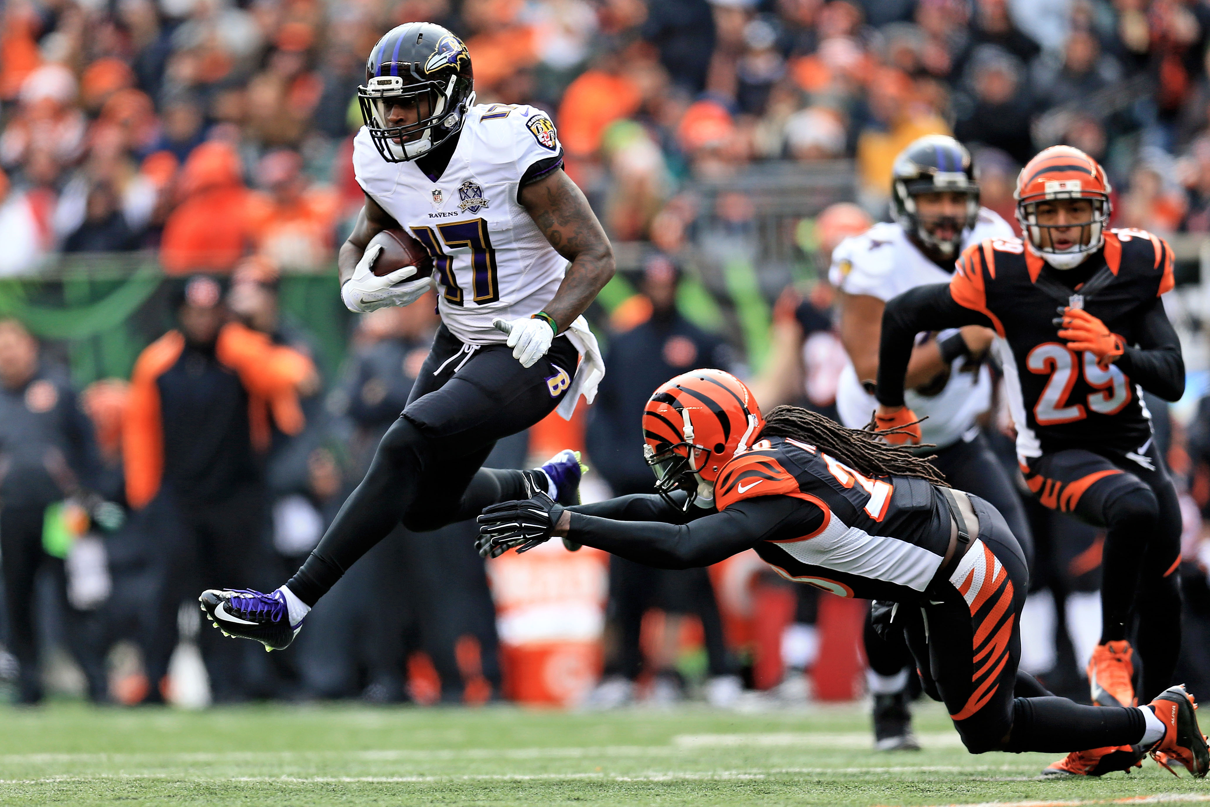 New Bills receiver Jeremy Butler began his NFL career with the Ravens. (Photo by Andrew Weber/Getty Images)
