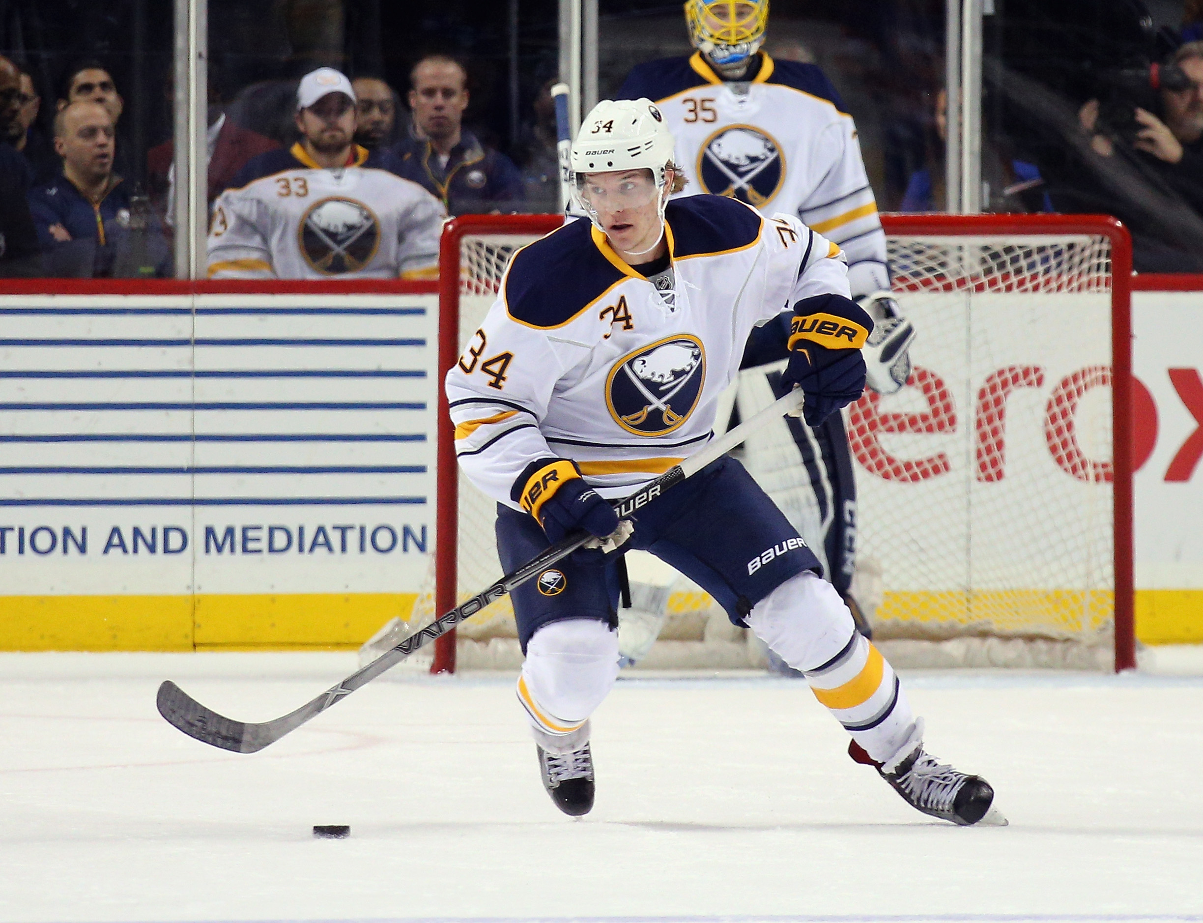 Casey Nelson is one of the few recall options for the Sabres. (Getty Images)