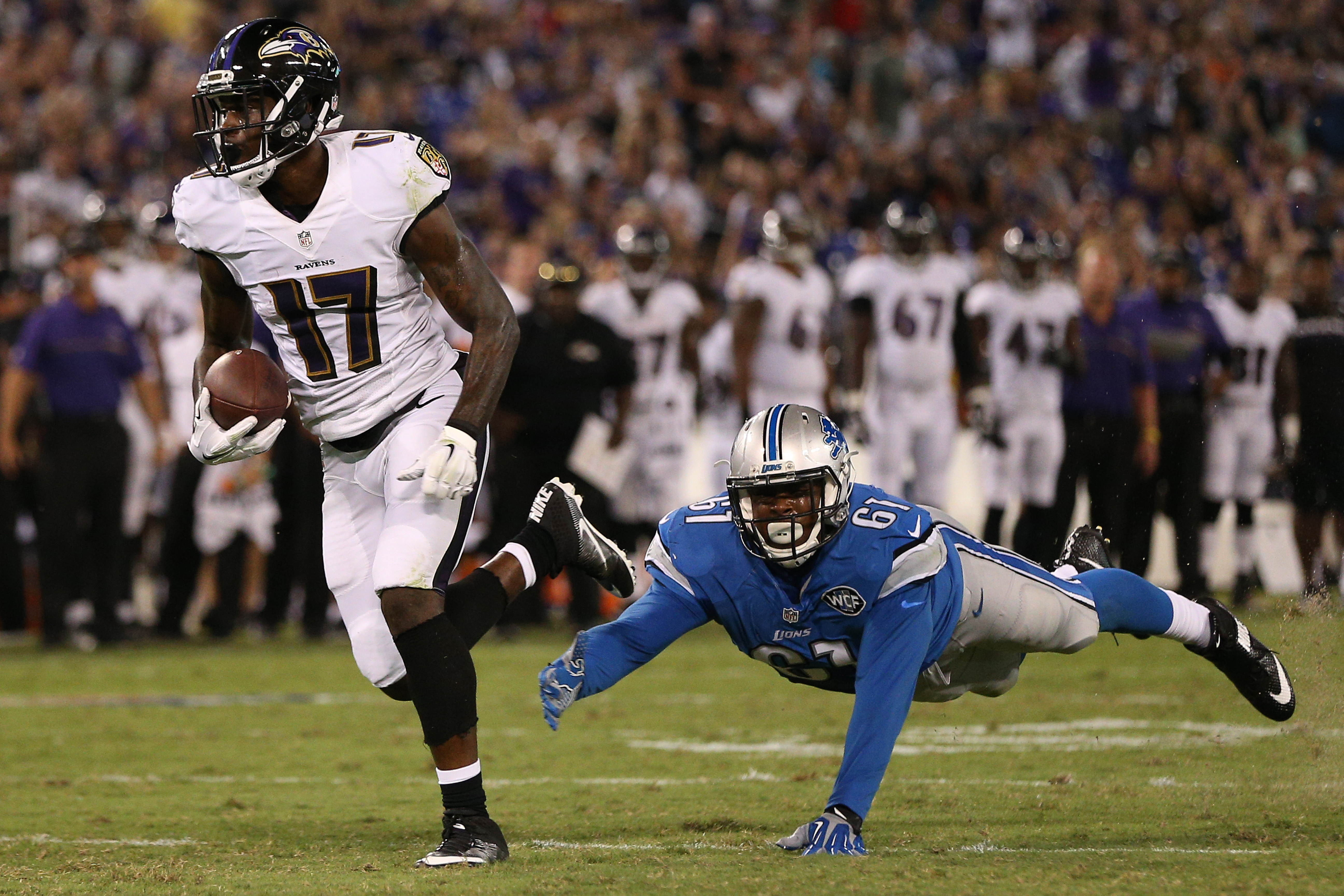 Former Ravens wide receiver Jeremy Butler is looking forward to reuniting with Tyrod Taylor on the Bills. (Photo by Patrick Smith/Getty Images)
