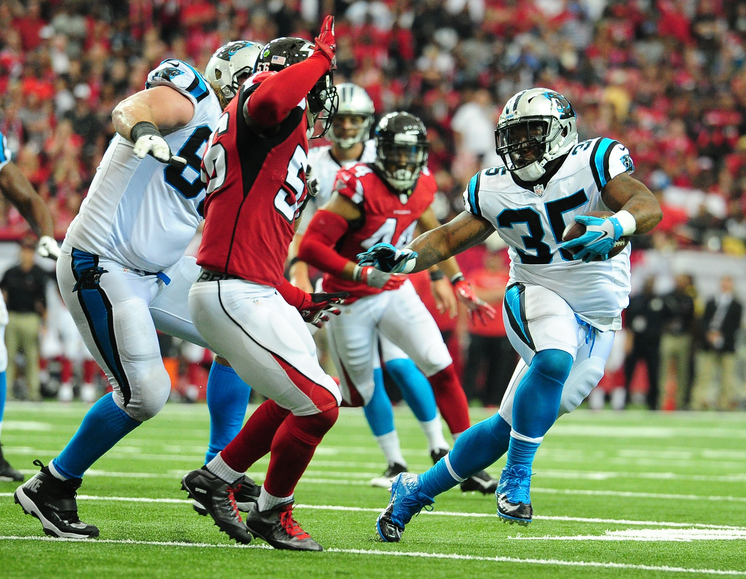 Former Panthers running back/fullback Mike Tolbert is a three-time Pro Bowl selection. (Getty Images)