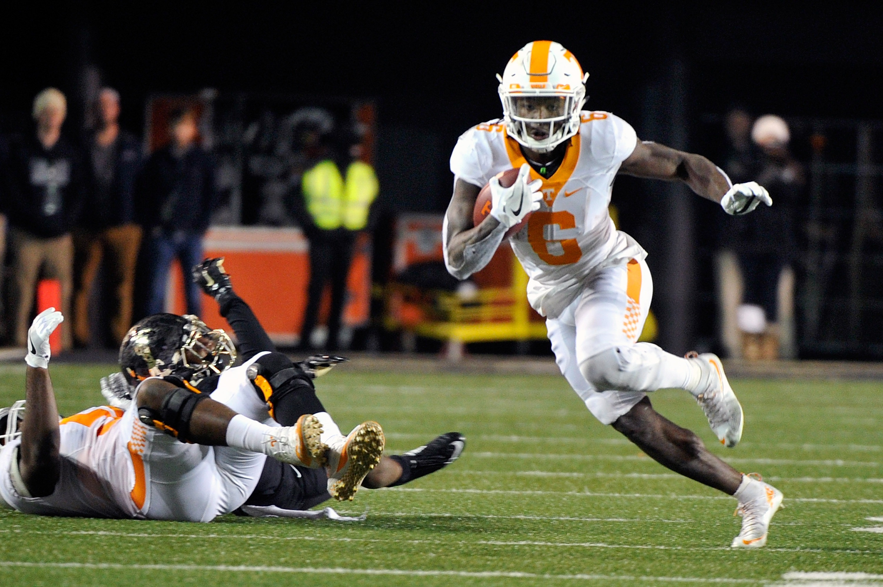 Tennessee running back Alvin Kamara would be a surprising first-round pick by the Buffalo Bills. (Getty Images)
