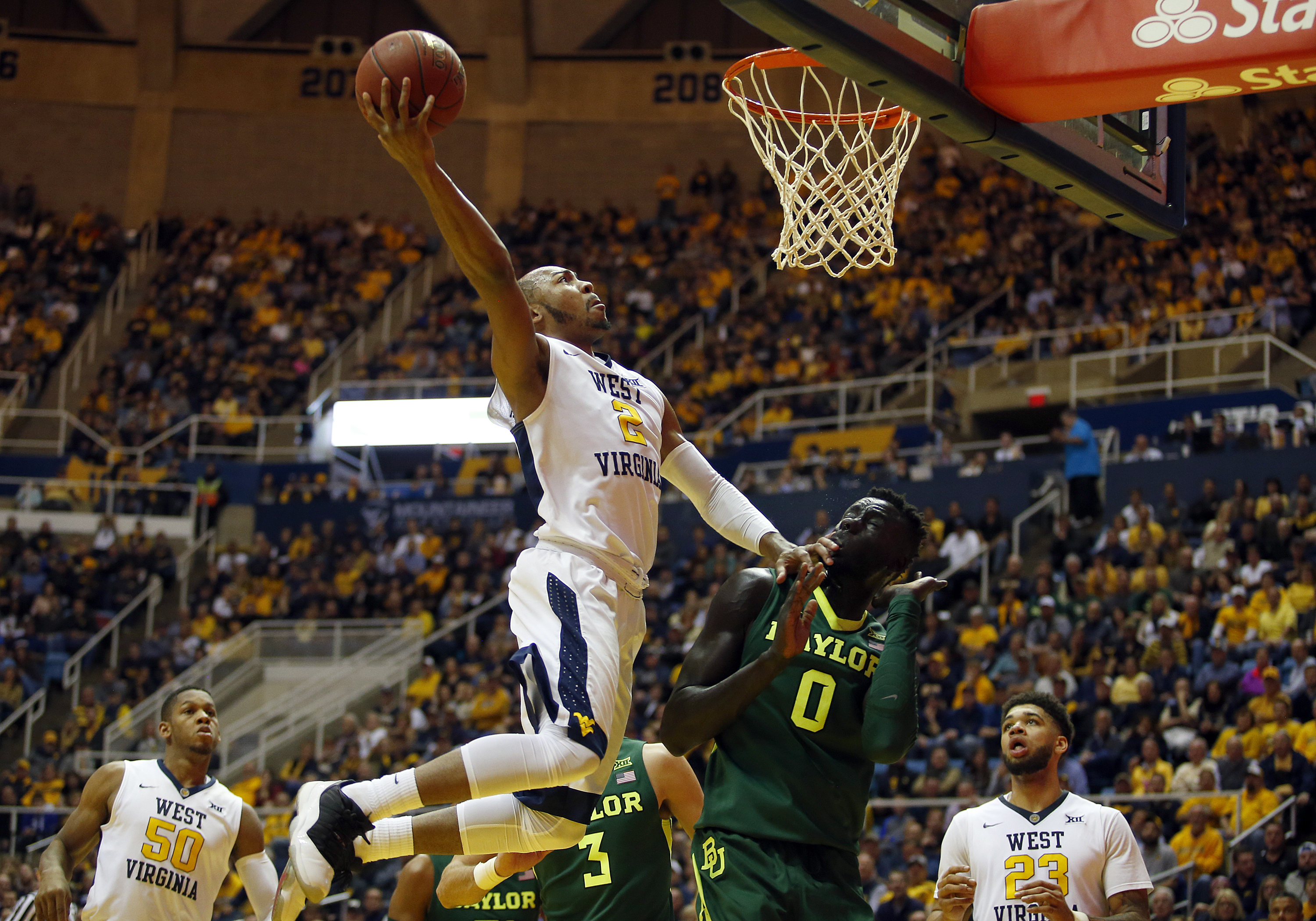 West Virginia's Jevon Carter leads the transition-fueled Mountaineers in many major statistical categories, including points per game and assists. (Getty Images)