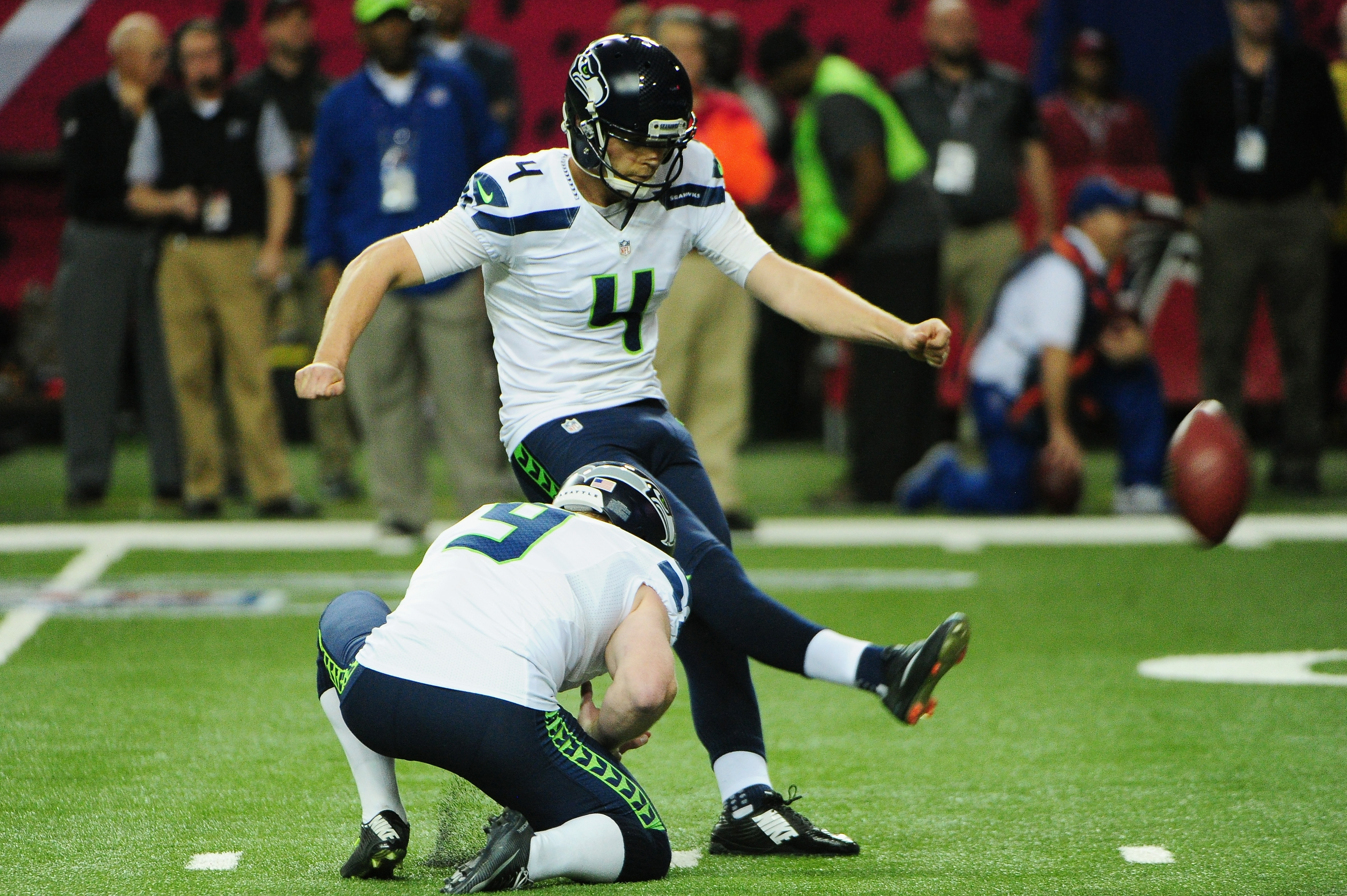 Steven Hauschka, who kicked for the Seattle Seahawks, is expected to join the Bills in free agency.  (Photo by Scott Cunningham/Getty Images)