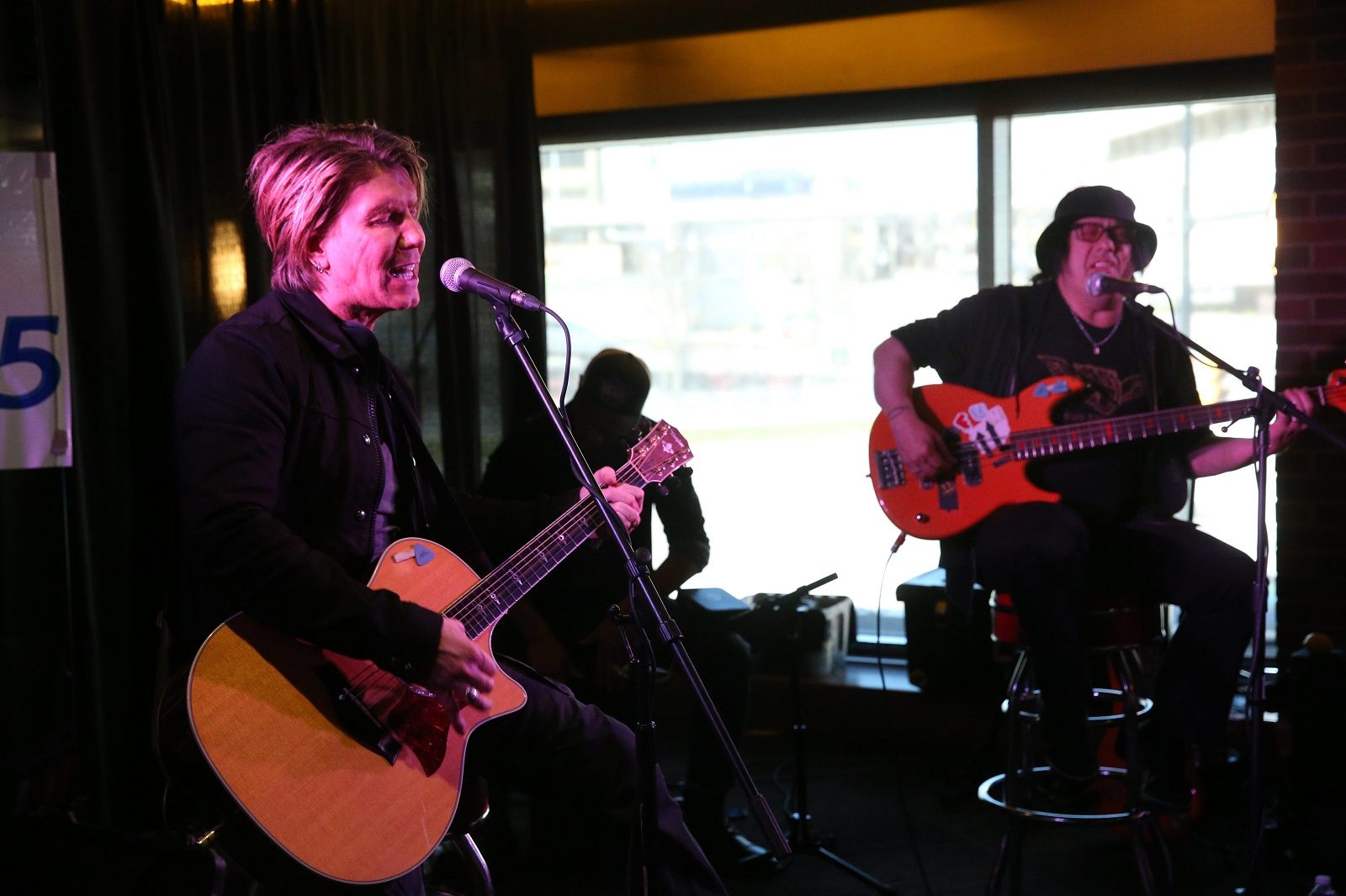 The Goo Goo Dolls, John Rzeznik and Robby Tabac,  here performing a short acoustic show  as part of a record release at 716 last year, are coming home for the Variety Kids Telethon (Sharon Cantillon/Buffalo News)