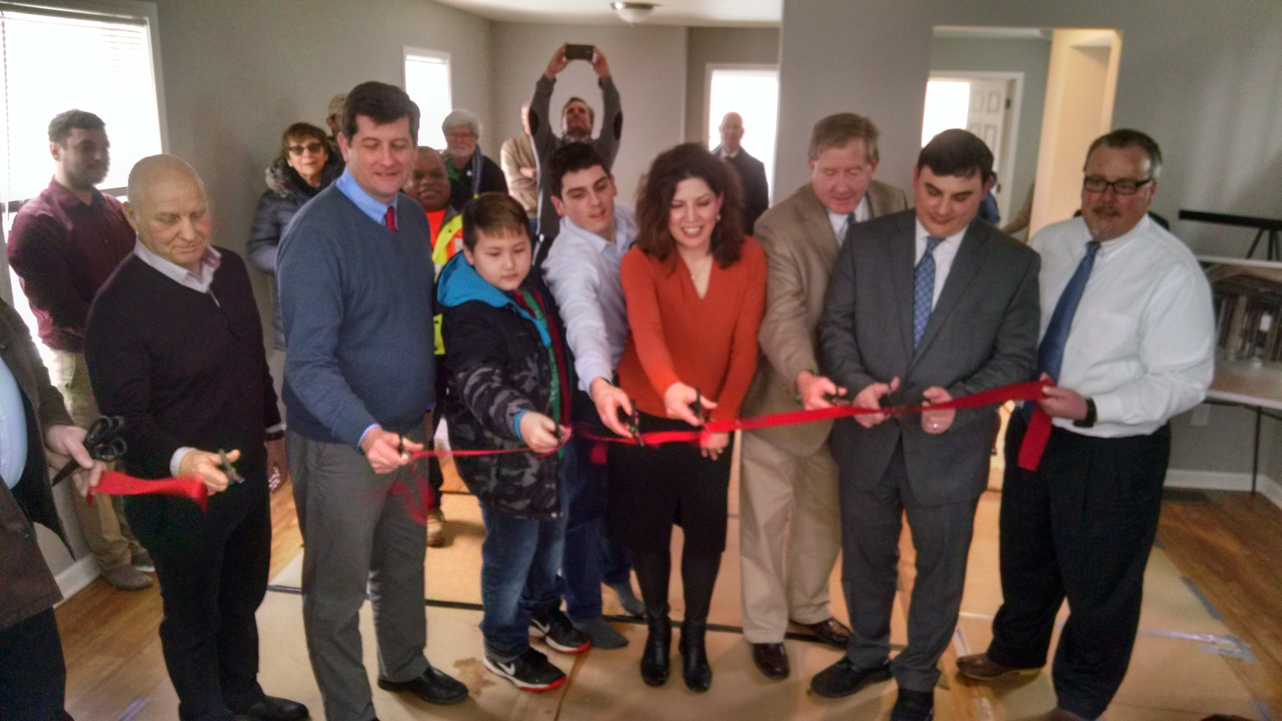 A formerly vacant house in the Village of Kenmore was rehabbed by the Buffalo Erie Niagara Land Improvement Corporation and will soon be sold. Officials marked the completion of the project Tuesday with a ribbon cutting.