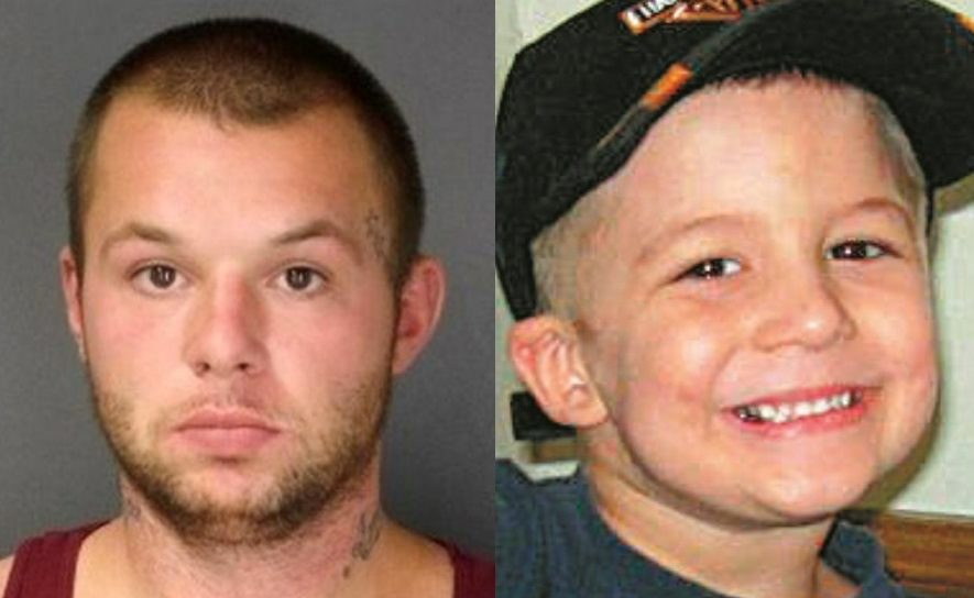 Matthew Kuzdzal, left, was convicted in 2014 of second-degree murder and predatory sexual assault in the beating death of 5-year-old Eain Clayton Brooks.
