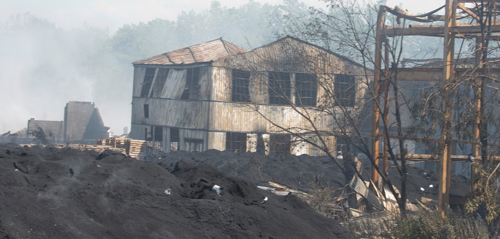 The remains of 14-year-old Joe Phillips were found at HTI Recycling once firefighters were able to extinguish the stubborn blaze. (John Hickey/Buffalo News)