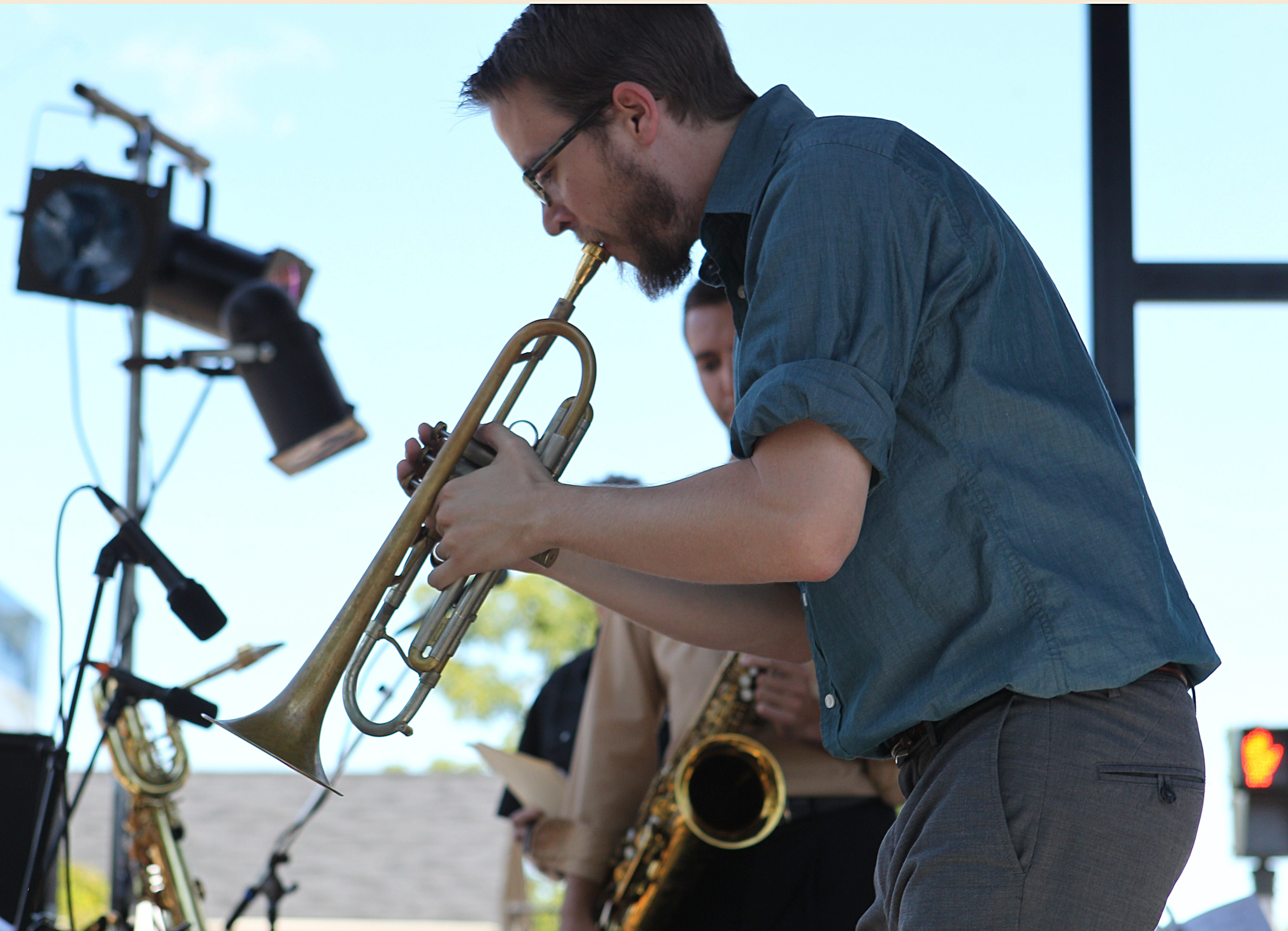 Dave Chisholm performs on trumpet at the Lewiston Jazz Festival on Aug. 24, 2013. (Sharon Cantillon/Buffalo News)
