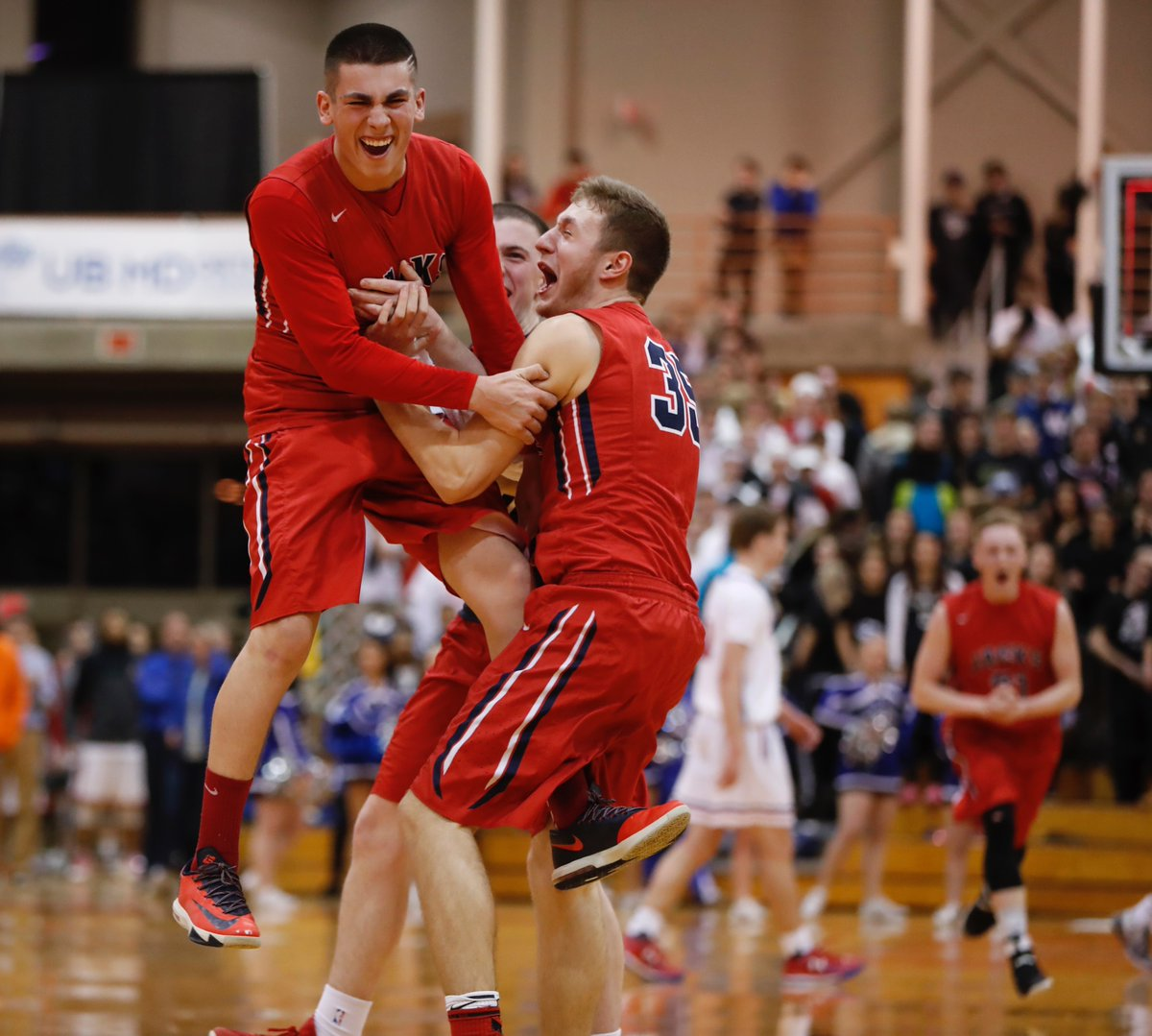 North Tonawanda players celebrate after winning the school's first Section VI title since 1961. (Harry Scull Jr./Buffalo News)