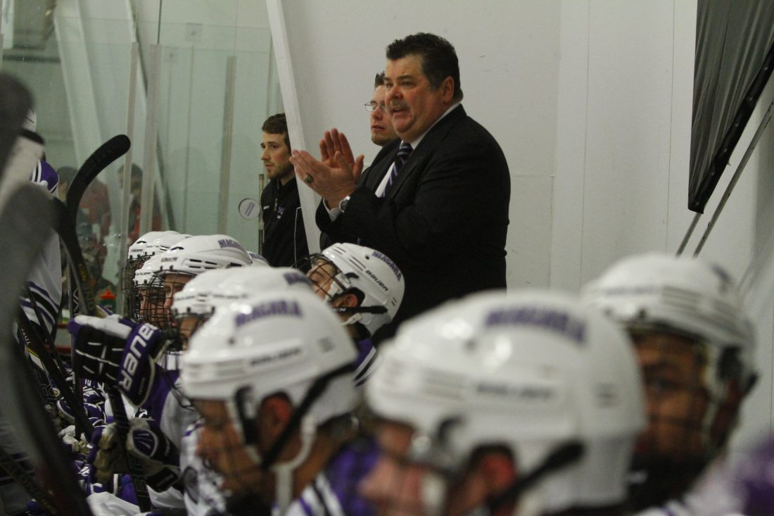Dave Burkholder won't be behind Niagara's hockey bench any more. (Buffalo News)