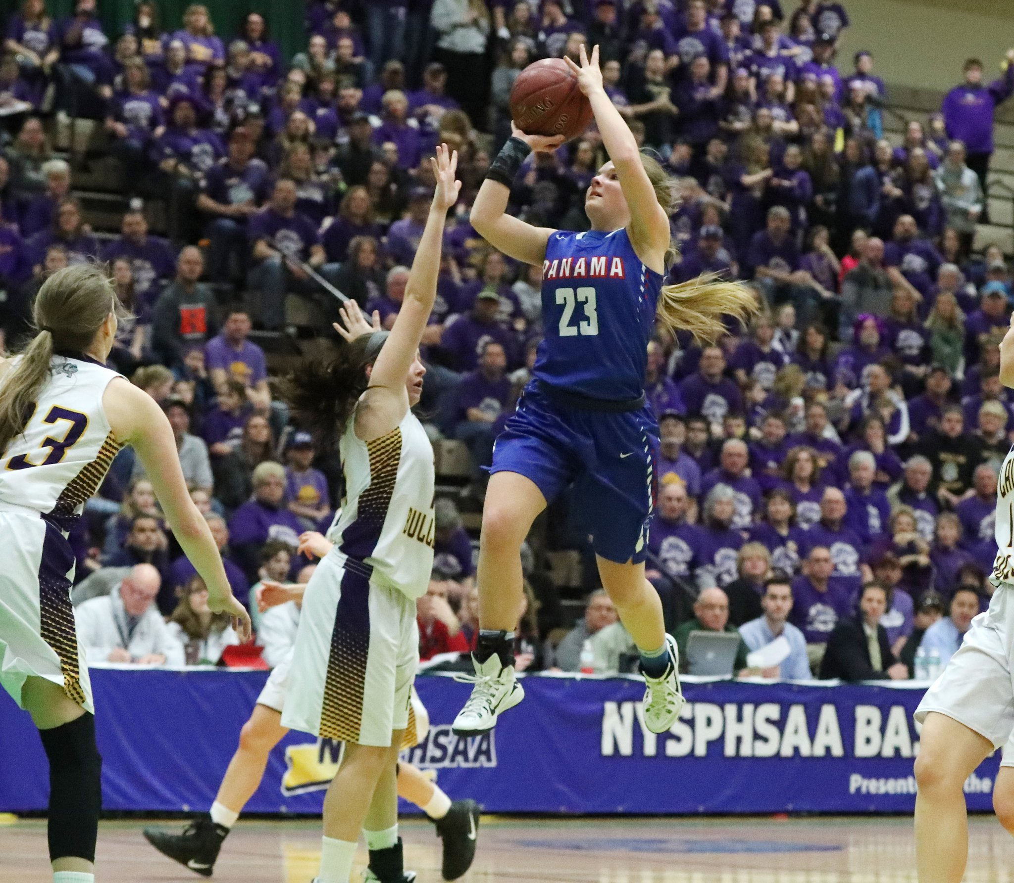 Madalyn Bowen (23) led Panama with 20 points. (James P. McCoy / Buffalo News)