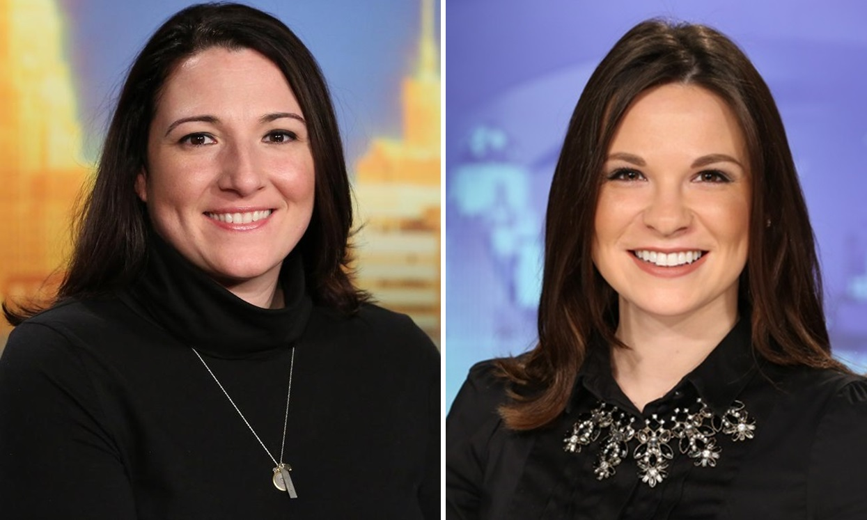 Lisa Polster, left, has had her interim tag removed from WIVB news director, while Courtney Corbetta moves up at WKBW.