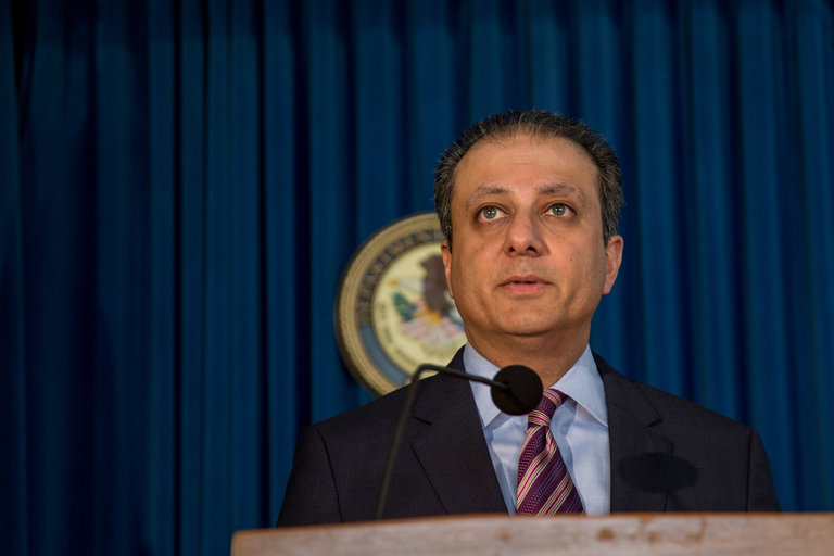 Preet Bharara, the U.S. attorney for the Southern District of New York, did not go quietly into the night. (New York Times)